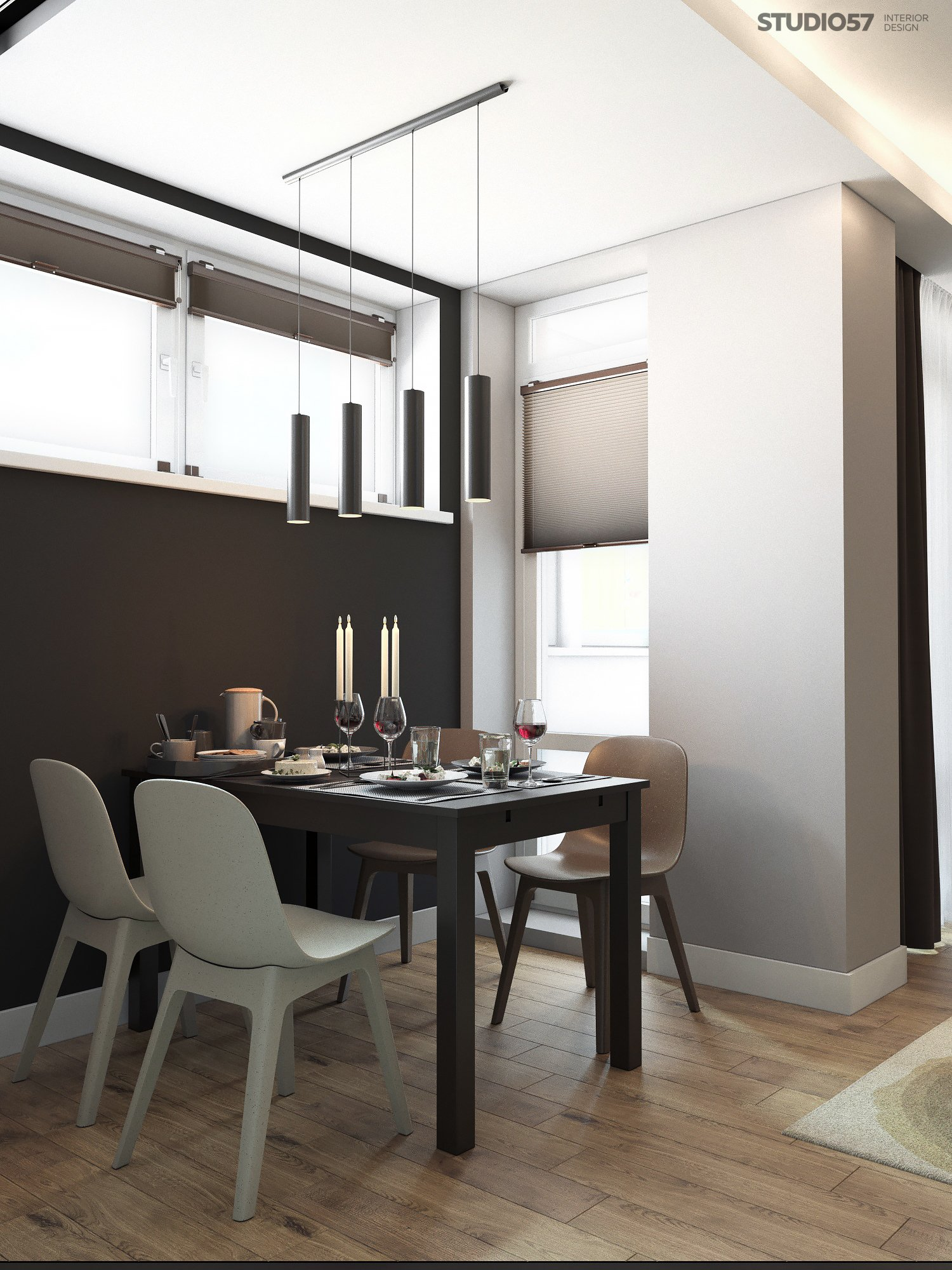 Interior of modern dining room photo