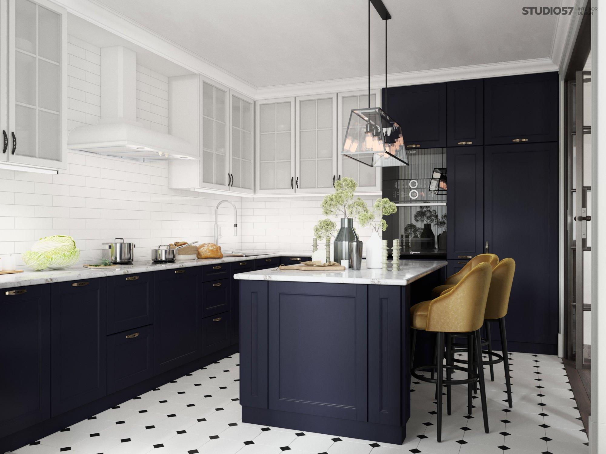 Дизайн кухни в стиле фьюжн картинка