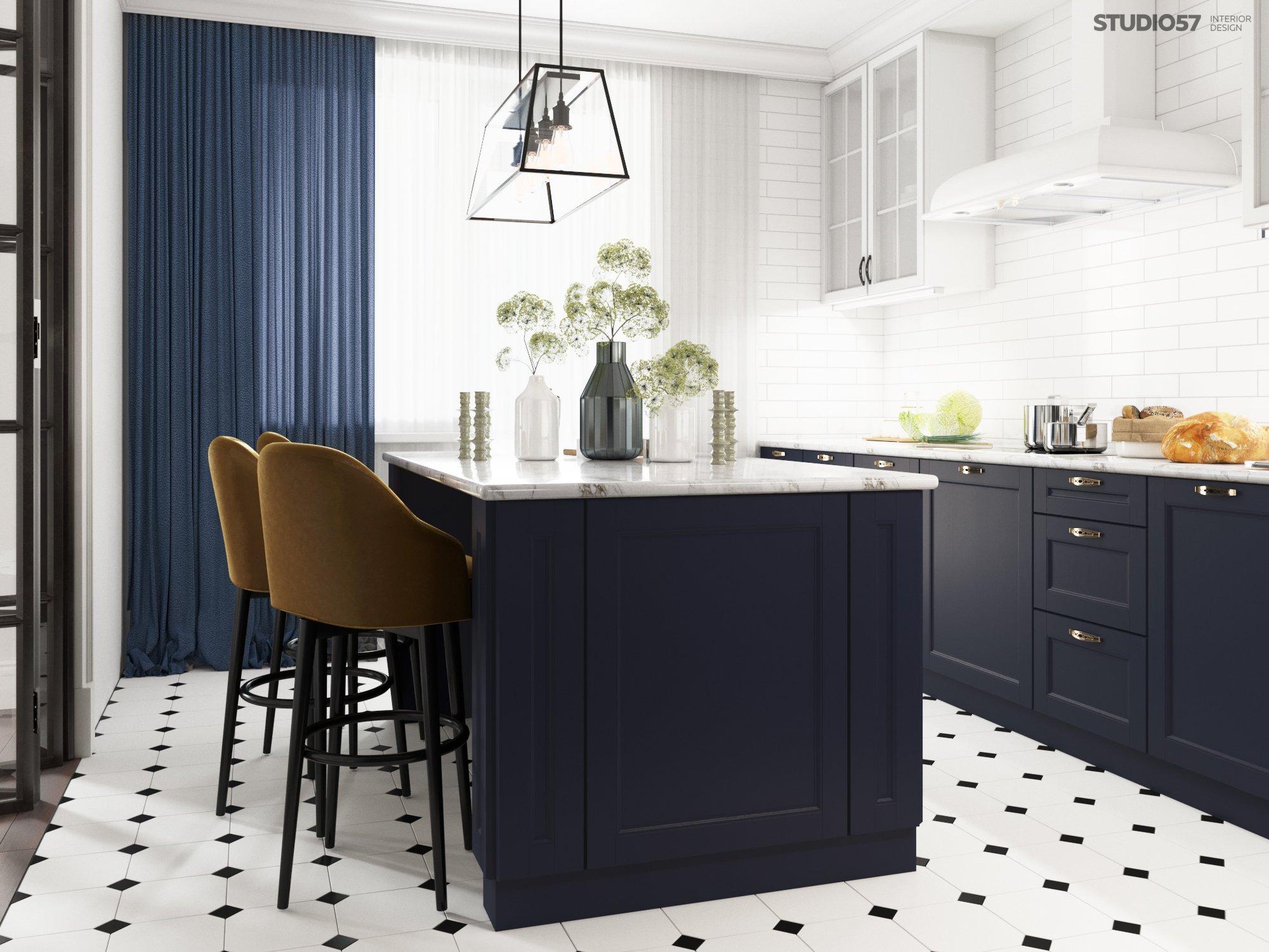 Кухня в стиле фьюжн изображение