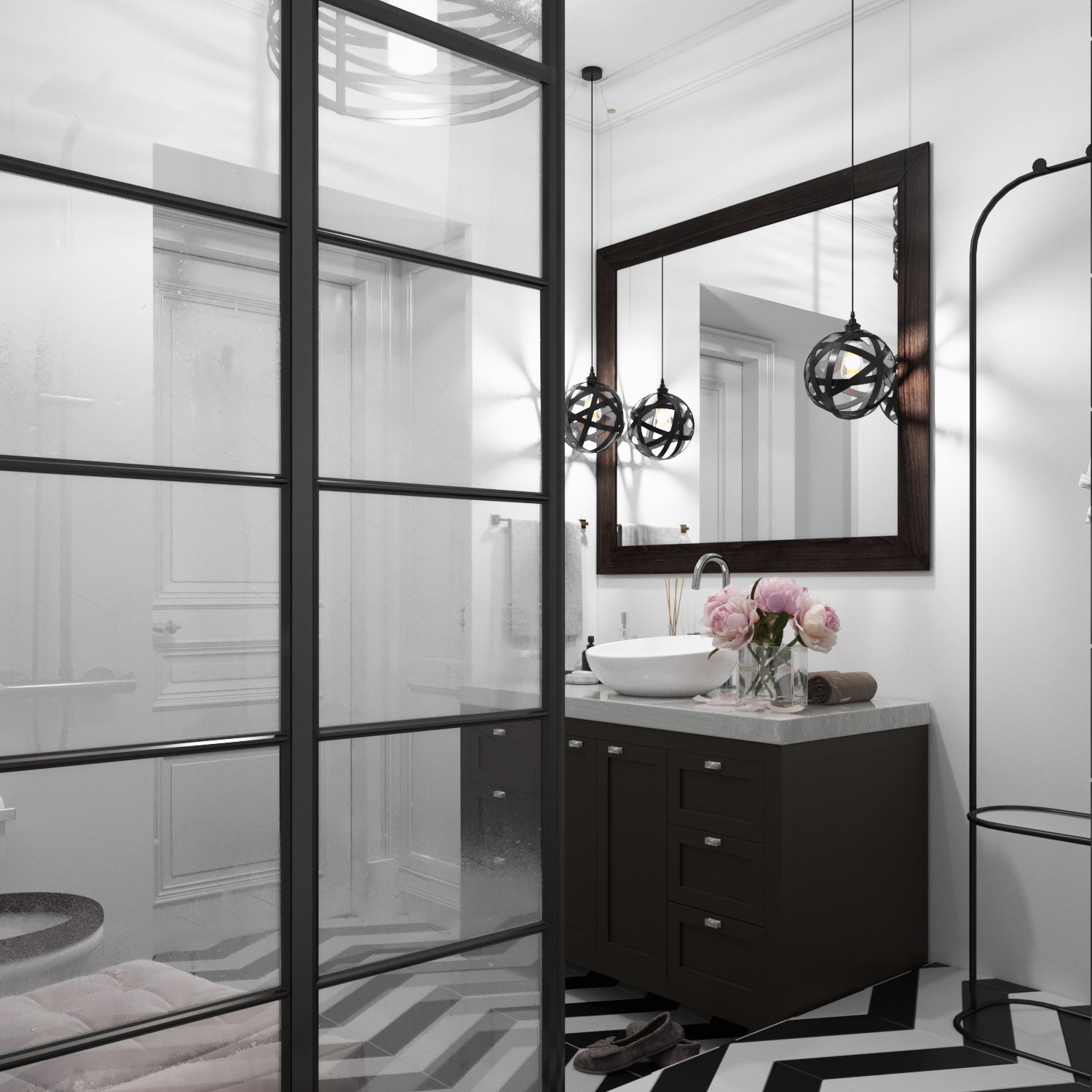 Shower room in a modern style photo
