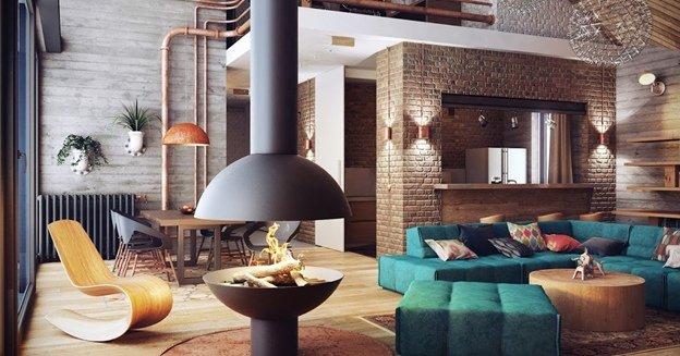 Квартира студия с дизайнерской мебелью