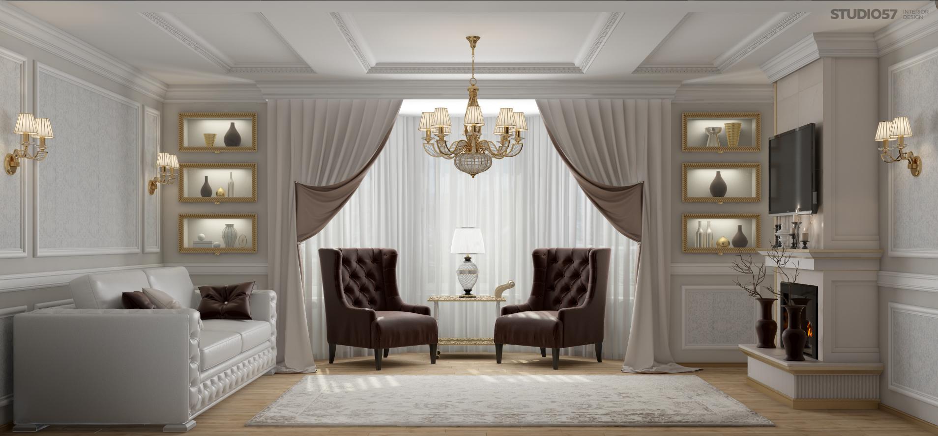Квартира в стиле классика фото