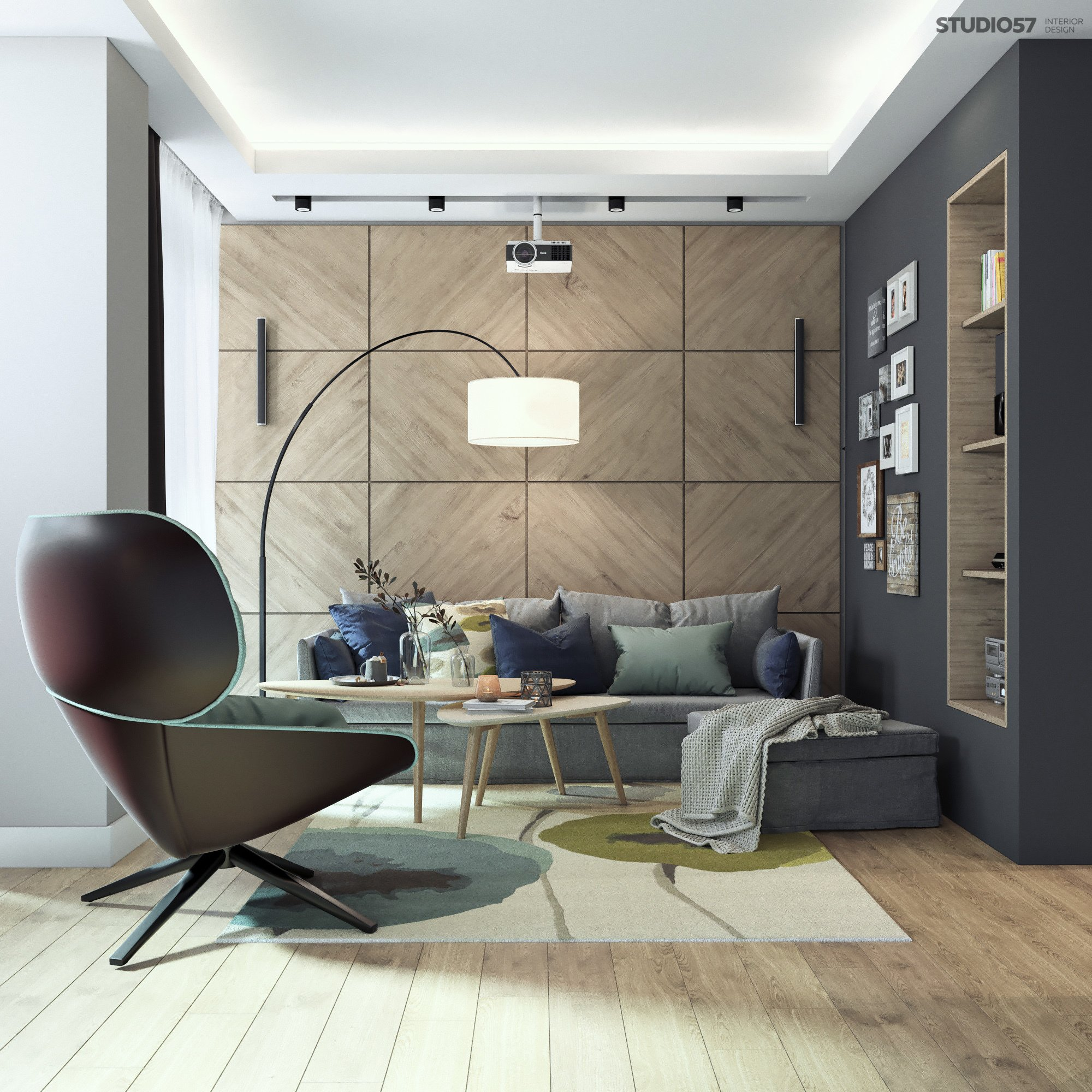 Modern living room decor picture