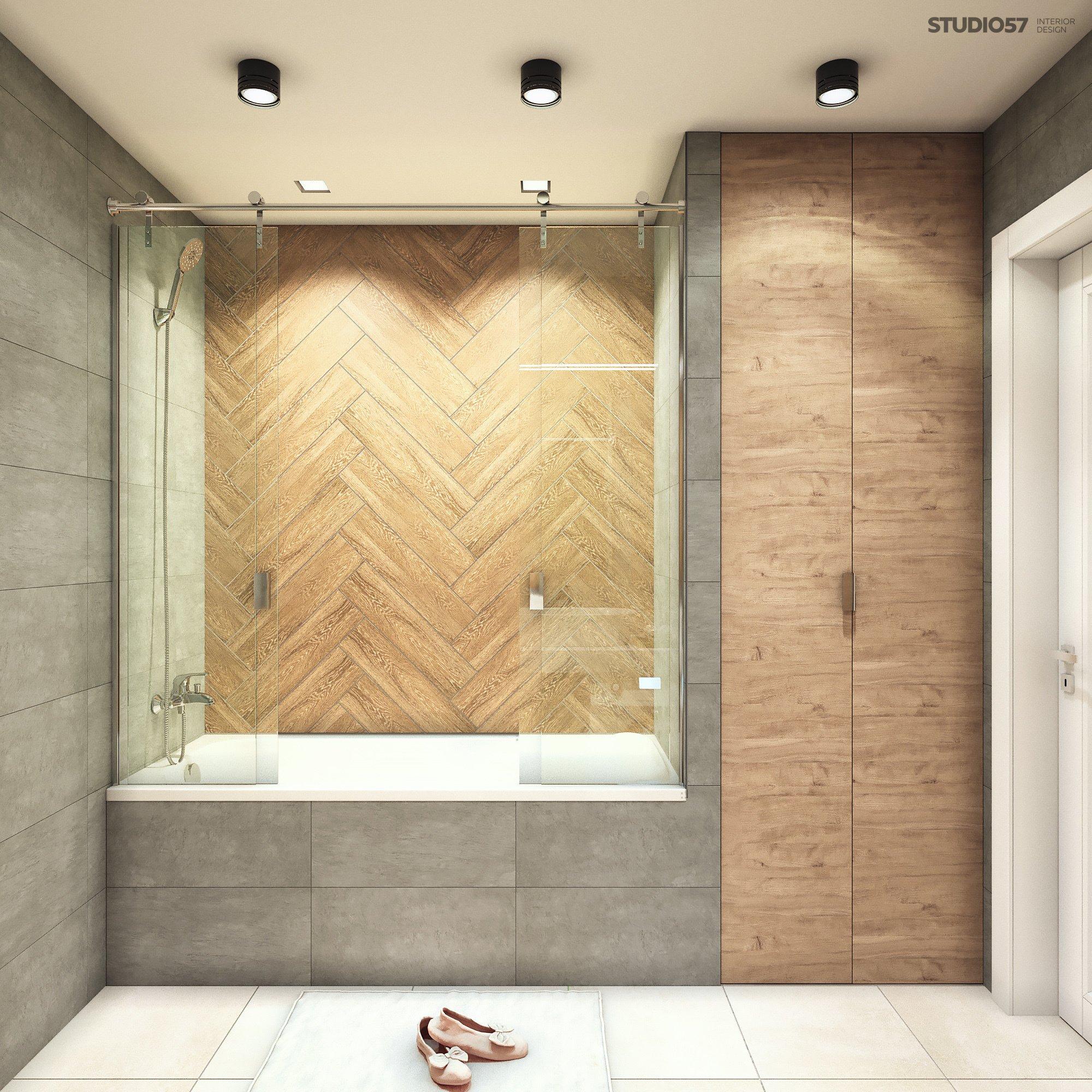 Интерьер ванной в стиле контемпорари картинка