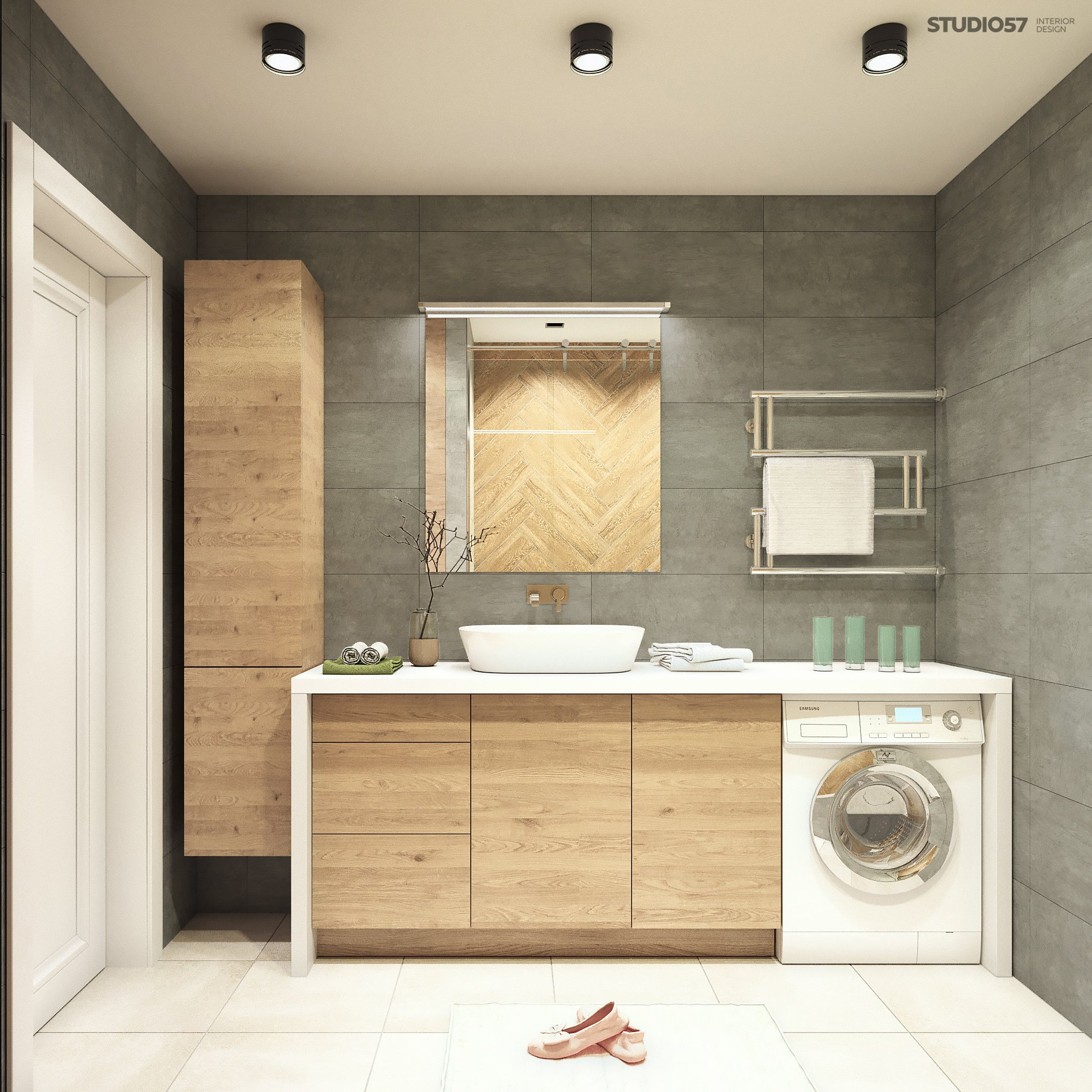 Bath in the style of Contemporary Design Photo