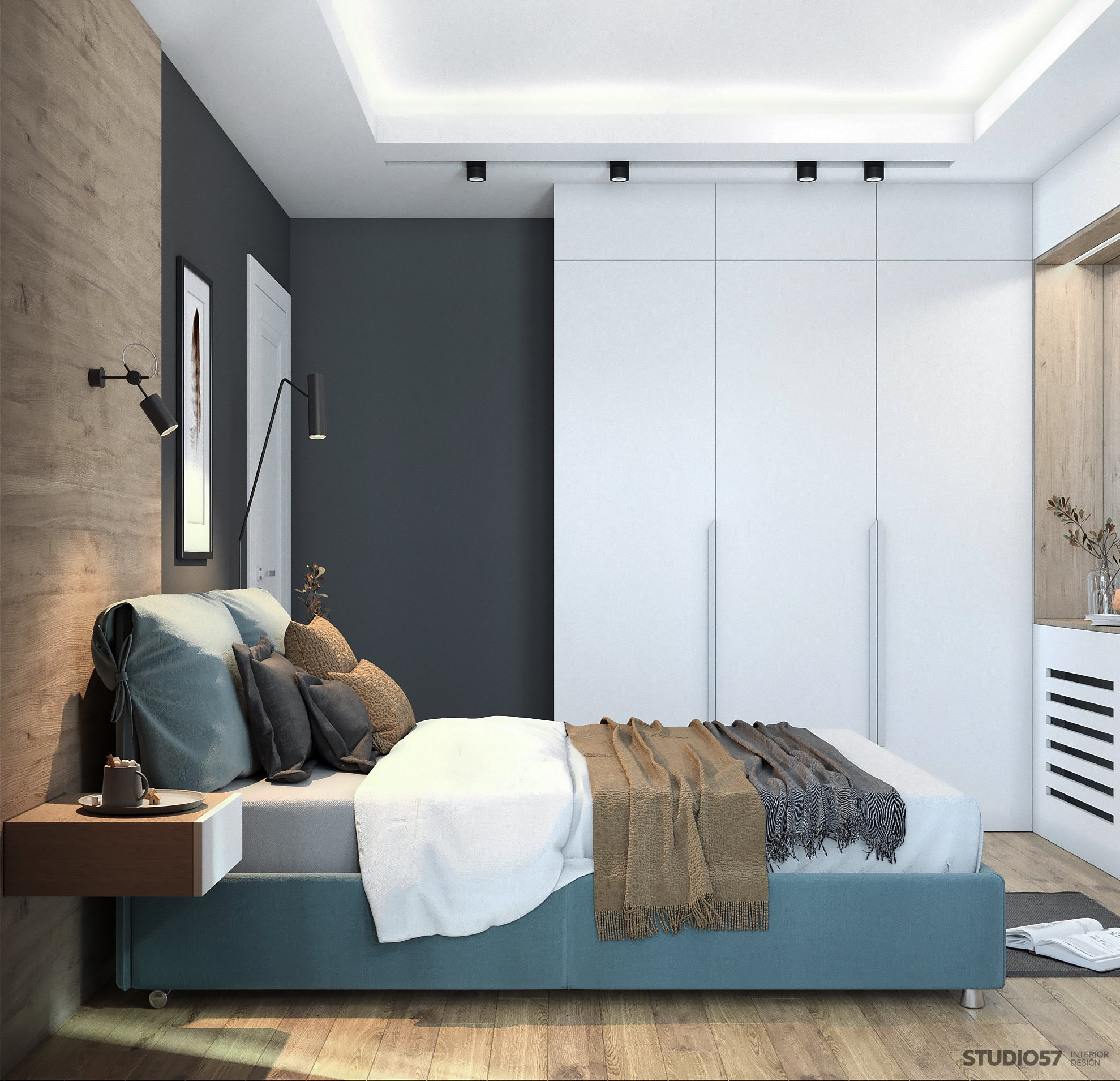 Interior bedroom in a modern style image