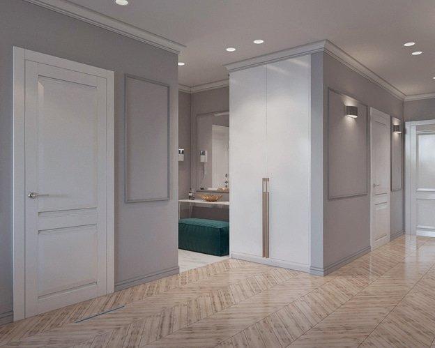 Деревянный пол в коридоре фото