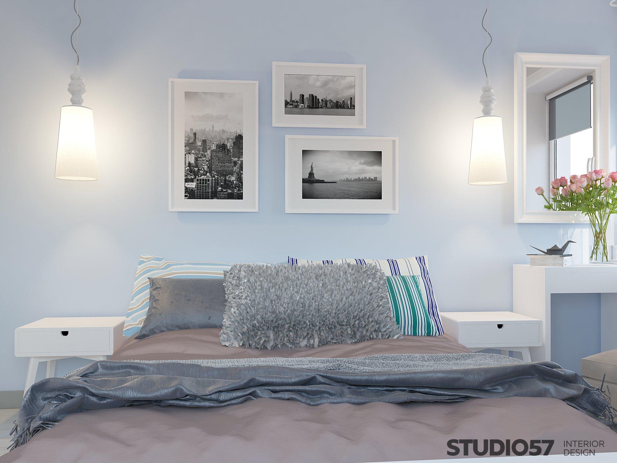 Спальня в стиле контемпорари картинка