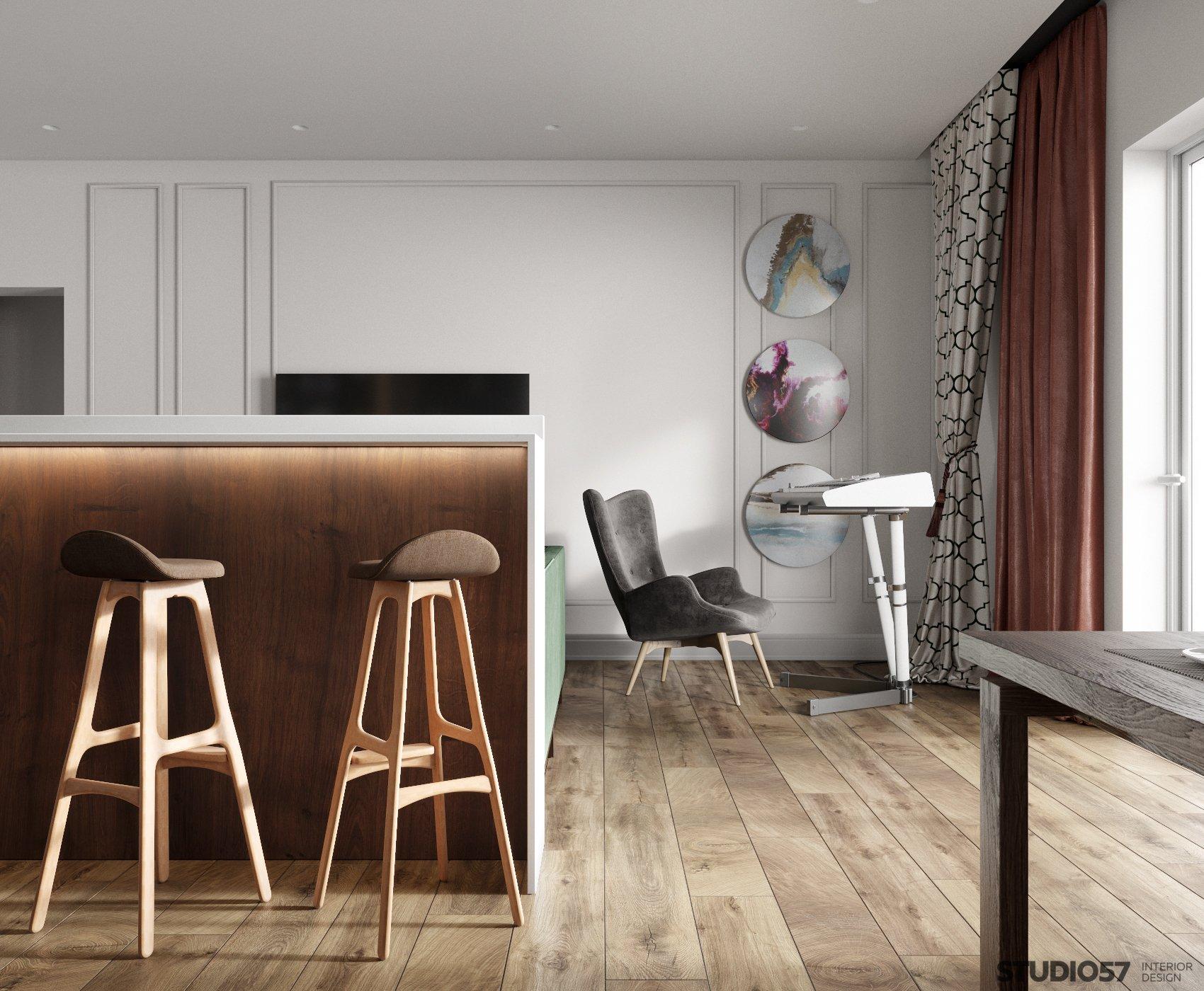 Original interior in Contemporary style photo