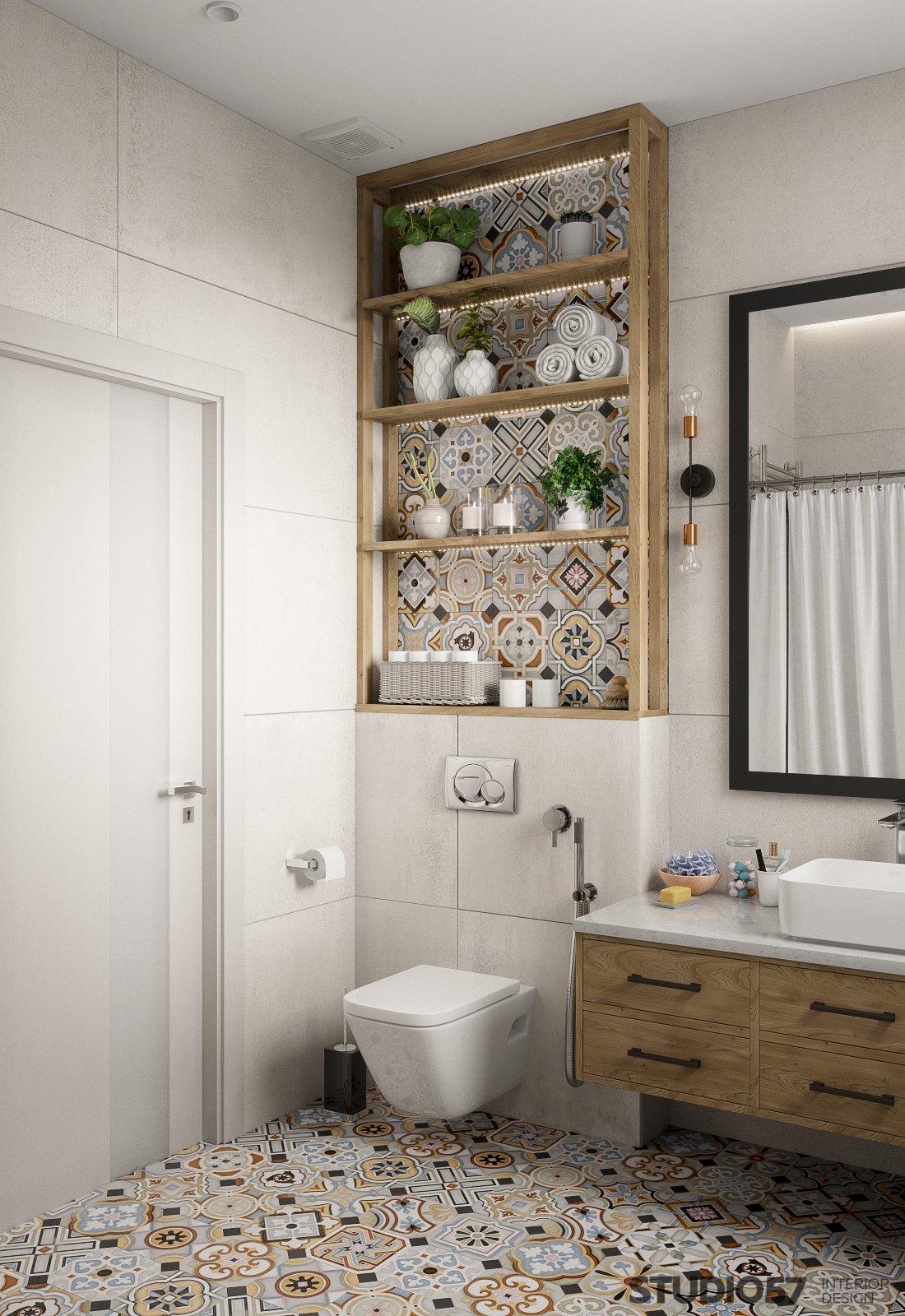 Original bathroom interior in Contemporary style photo