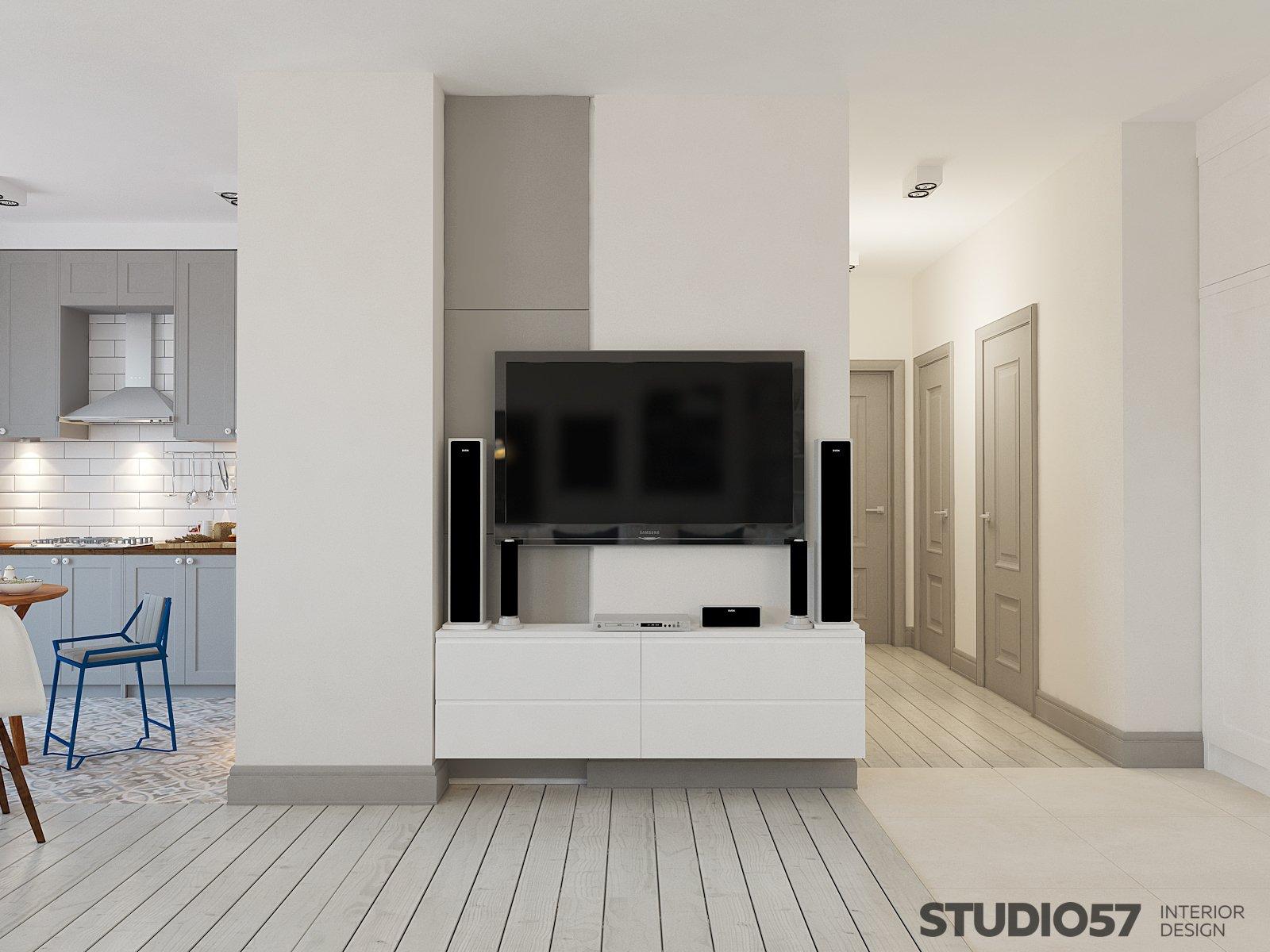 Дизайн гостиной с белыми шкафчиками фото
