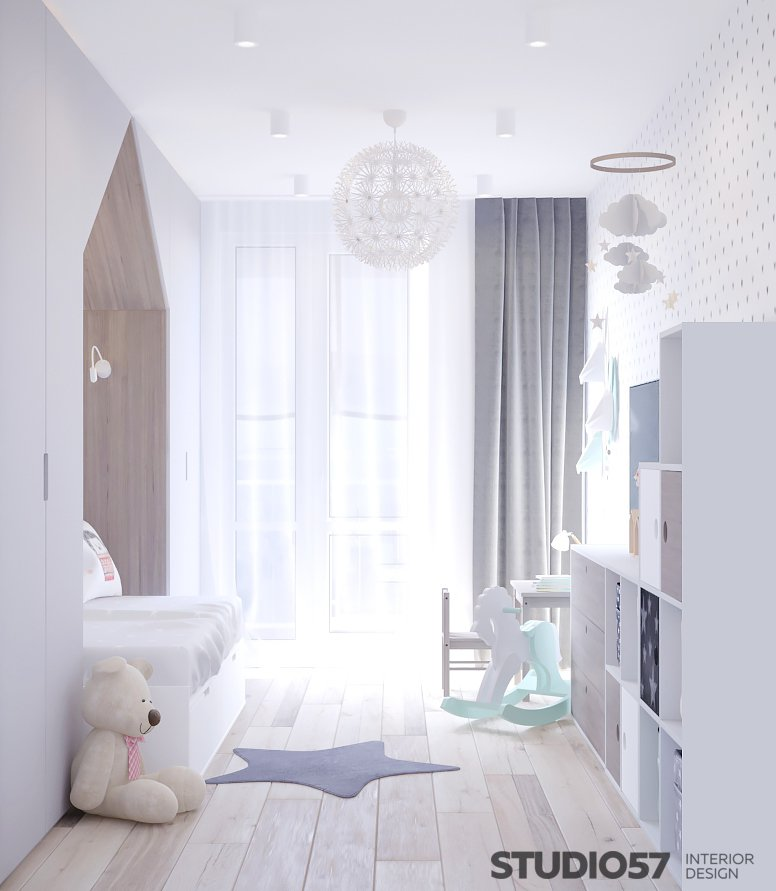 Light nursery for girls photo