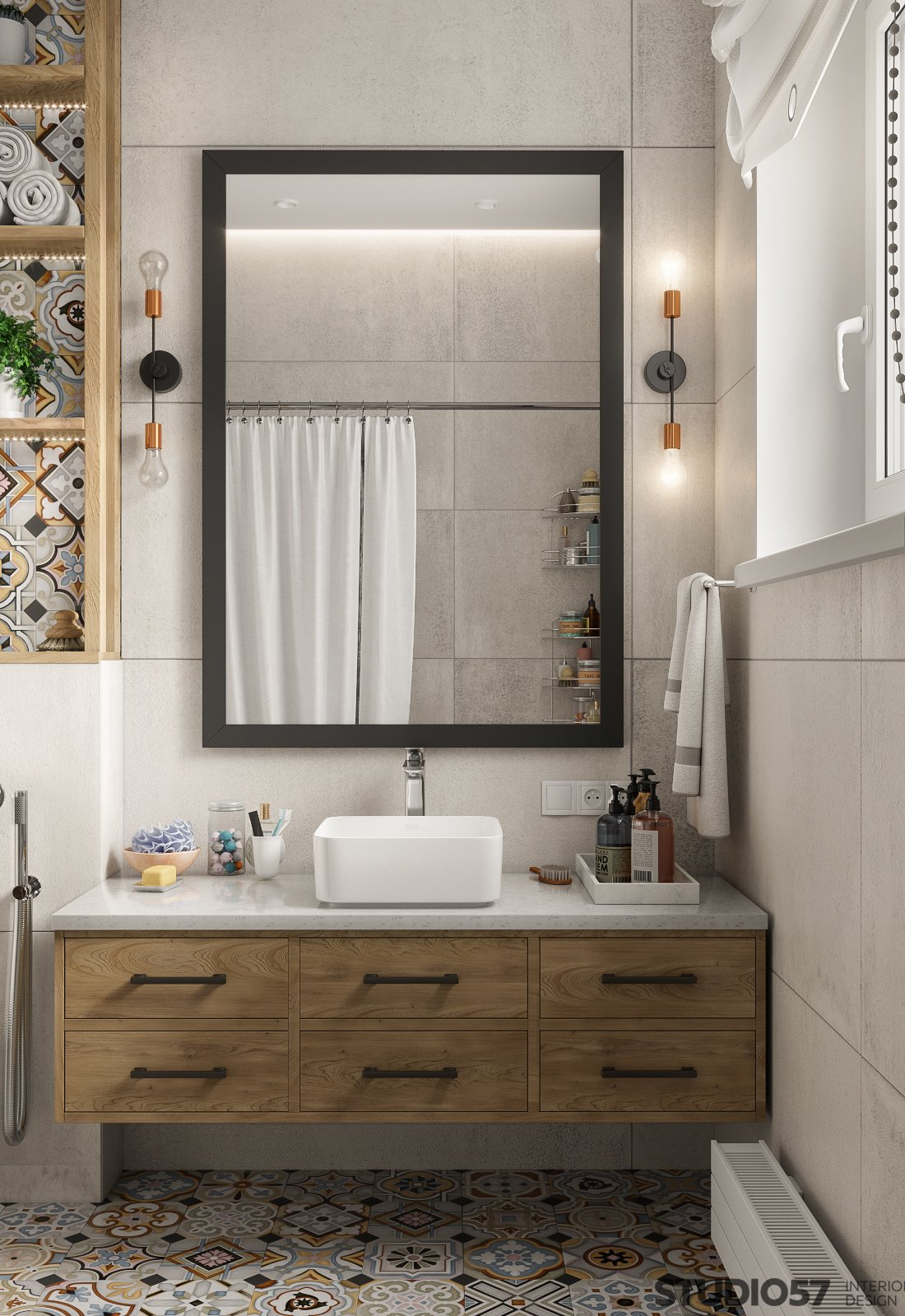 Bathroom interior design in Contemporary style