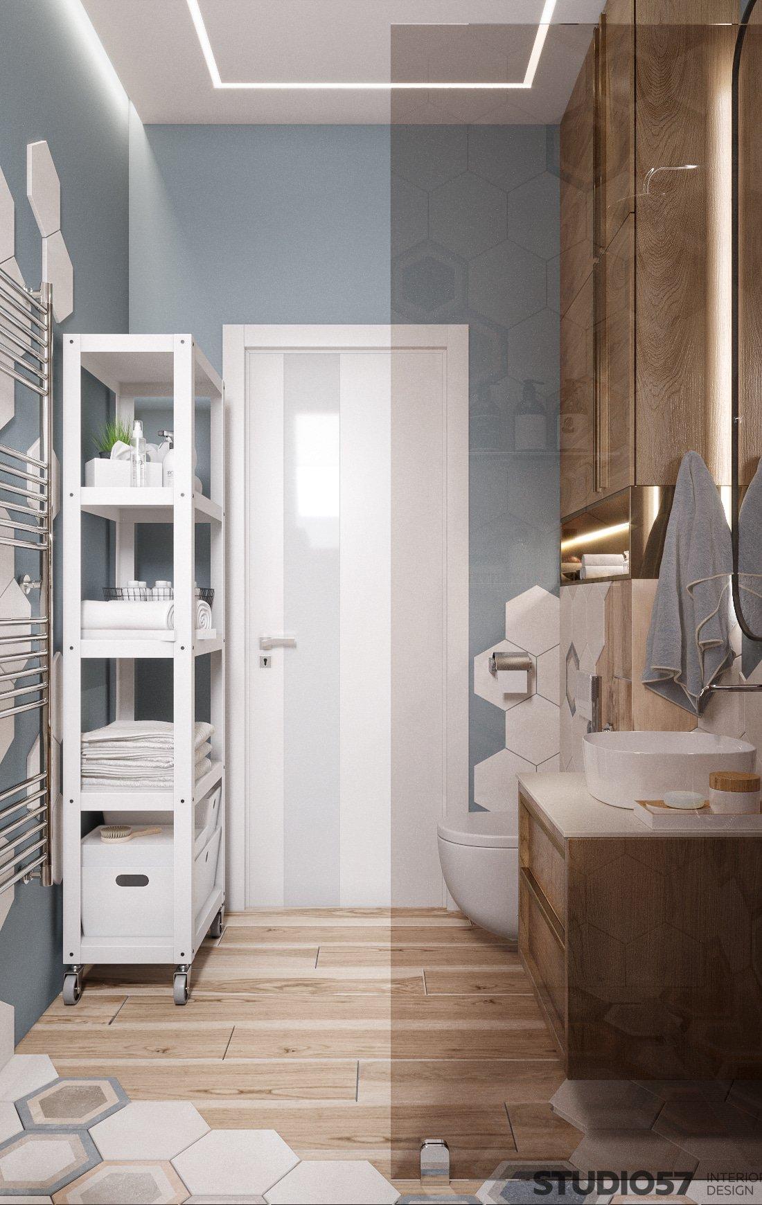 Contemporary style in bathroom design photo