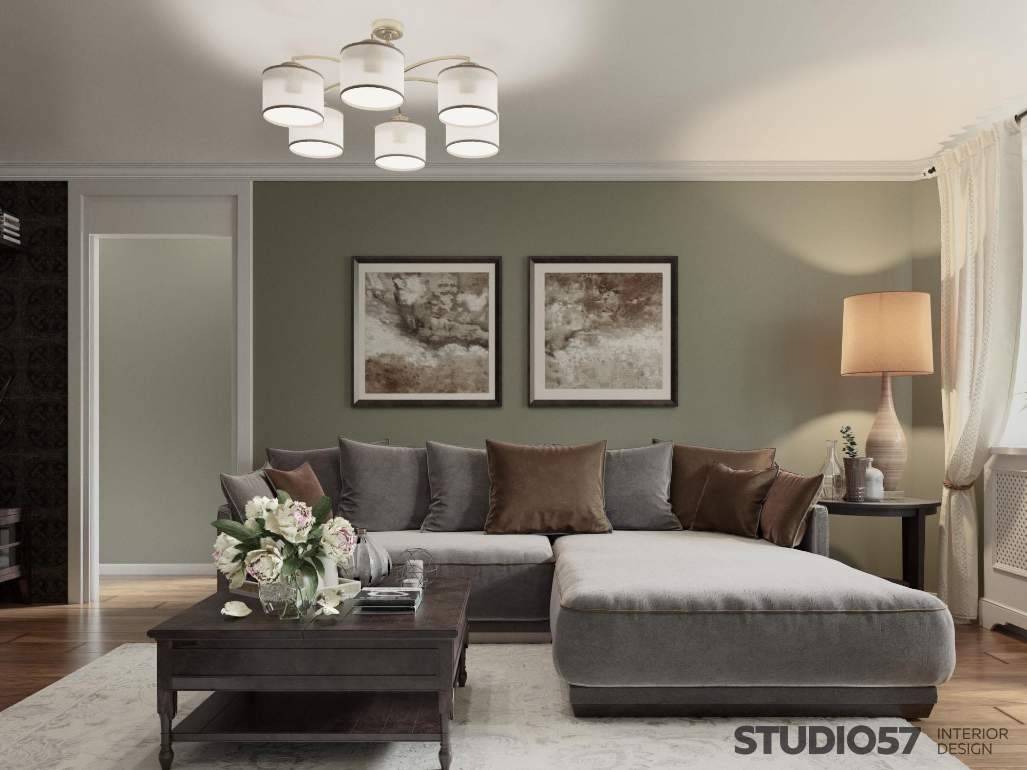 Style Neoclassic in the interior of the apartment photo design
