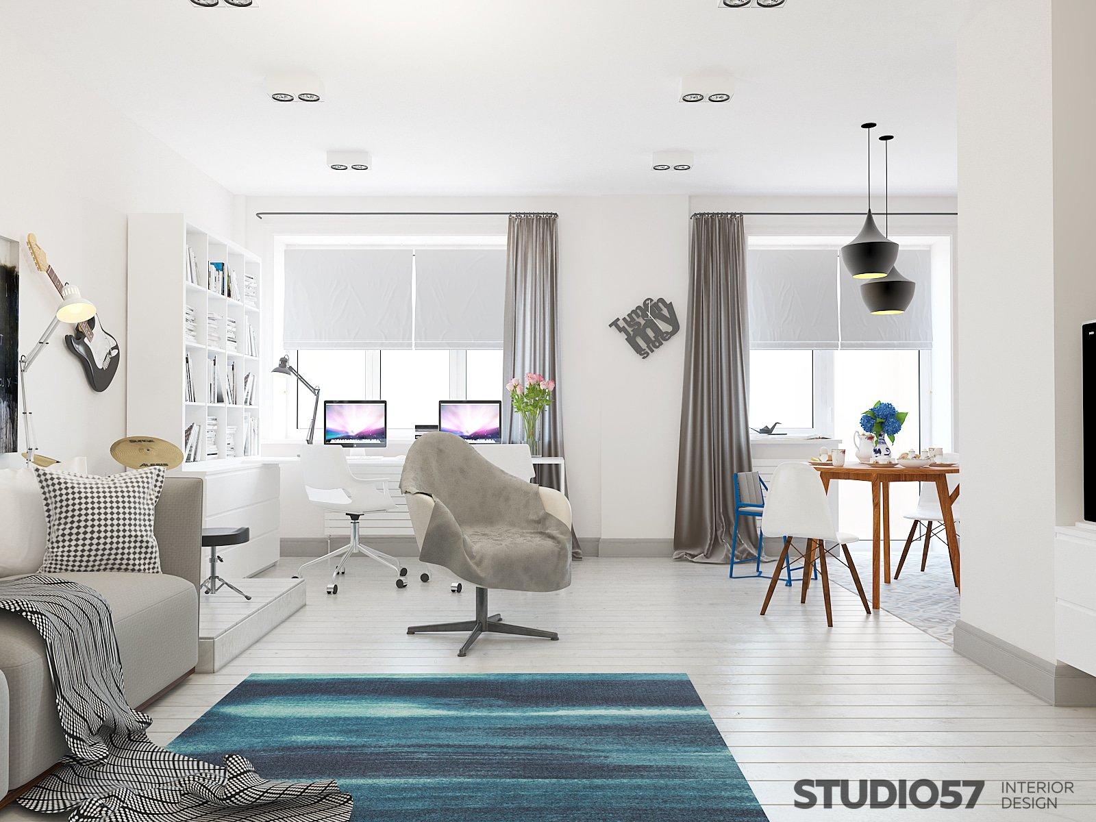 Как оформить комнату студию фото