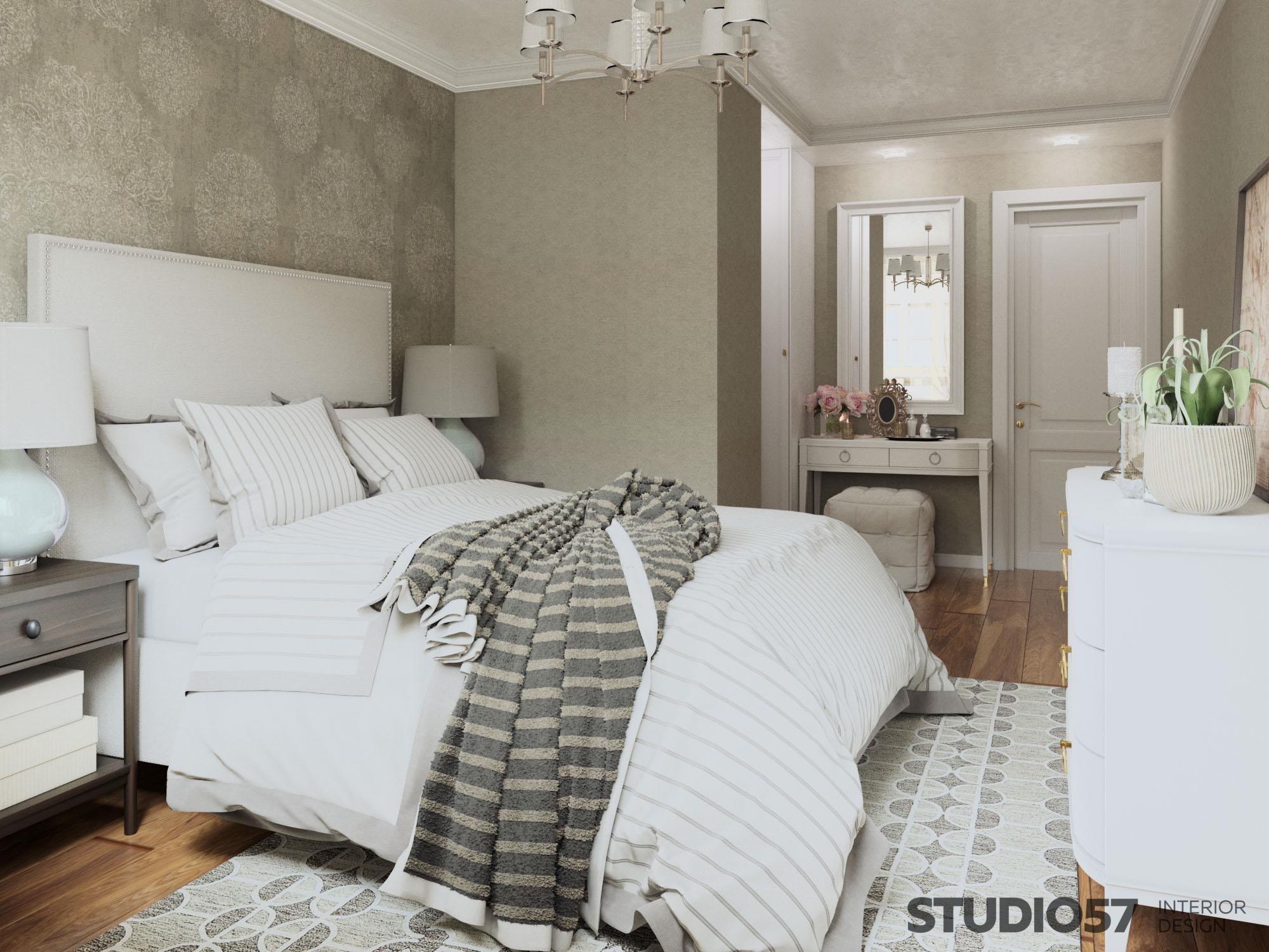 Спальня стиль современная классика фото
