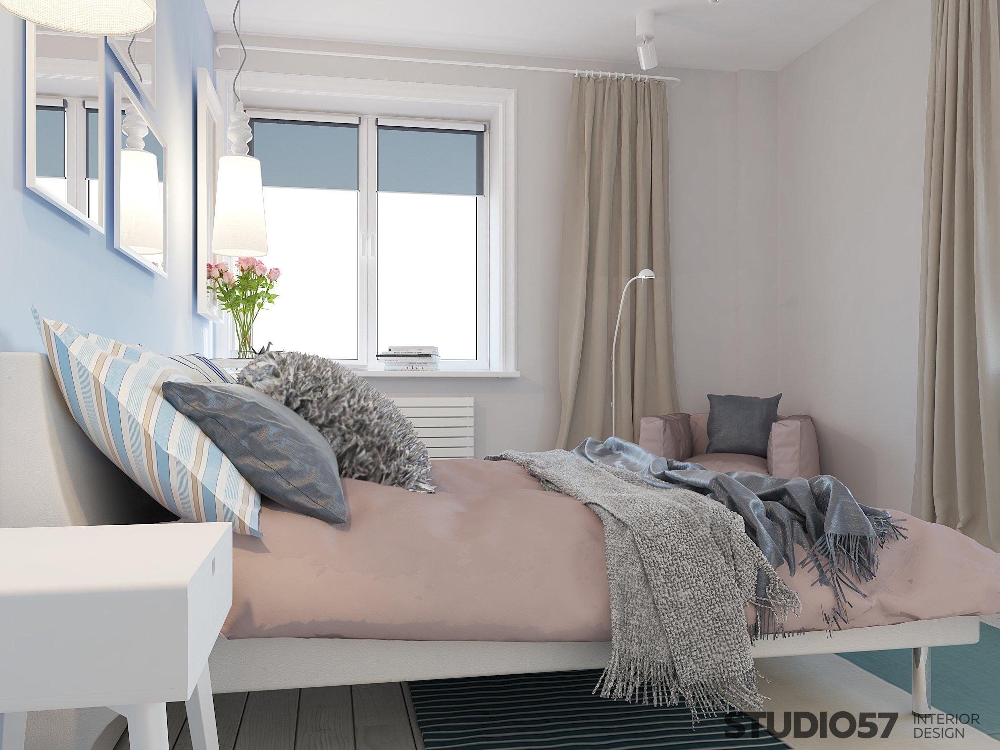 Интерьер модной спальни фото