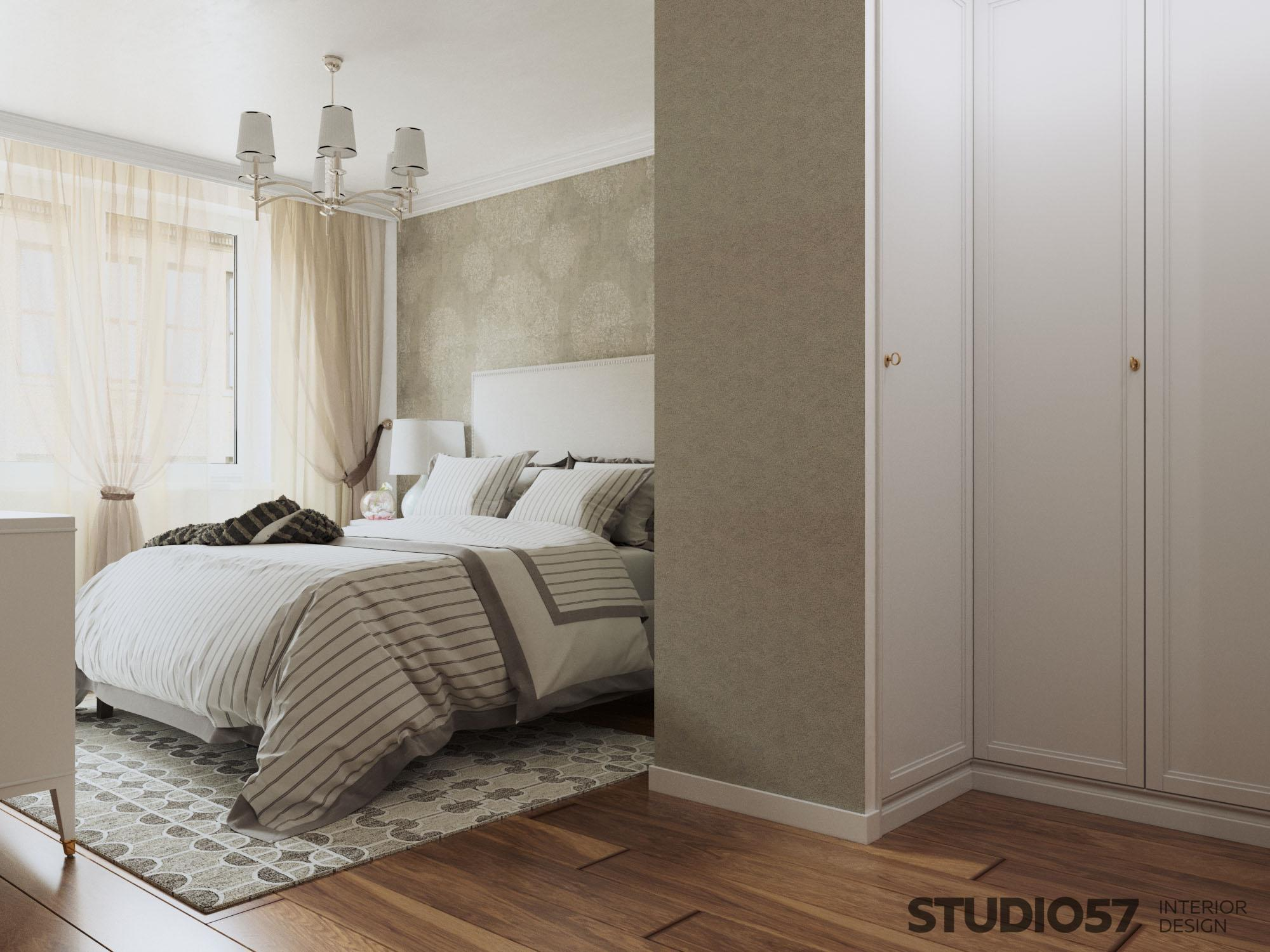 Modern classic bedroom interior photo