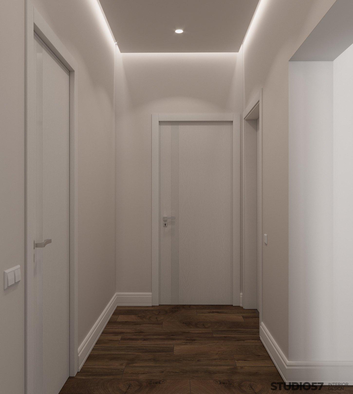 Contemporary style in the corridor interior