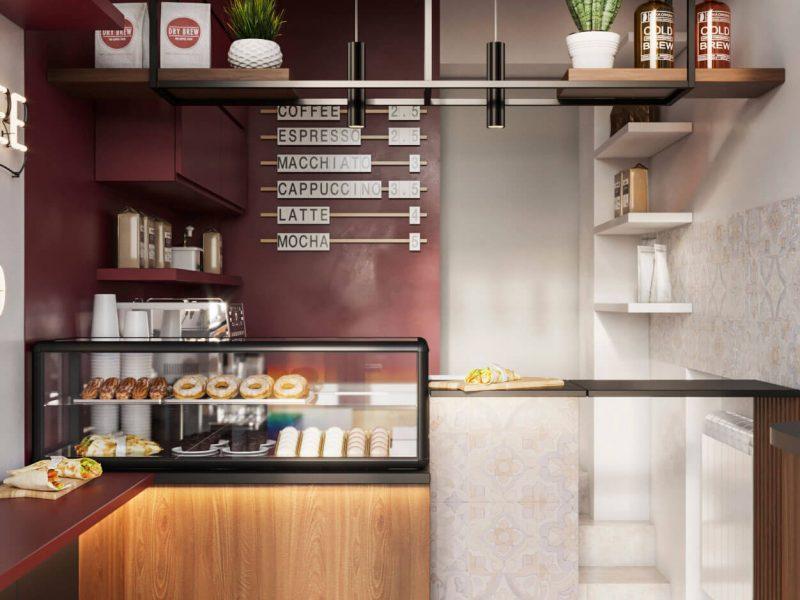 Дизайн интерьера для кафе фаст фуда