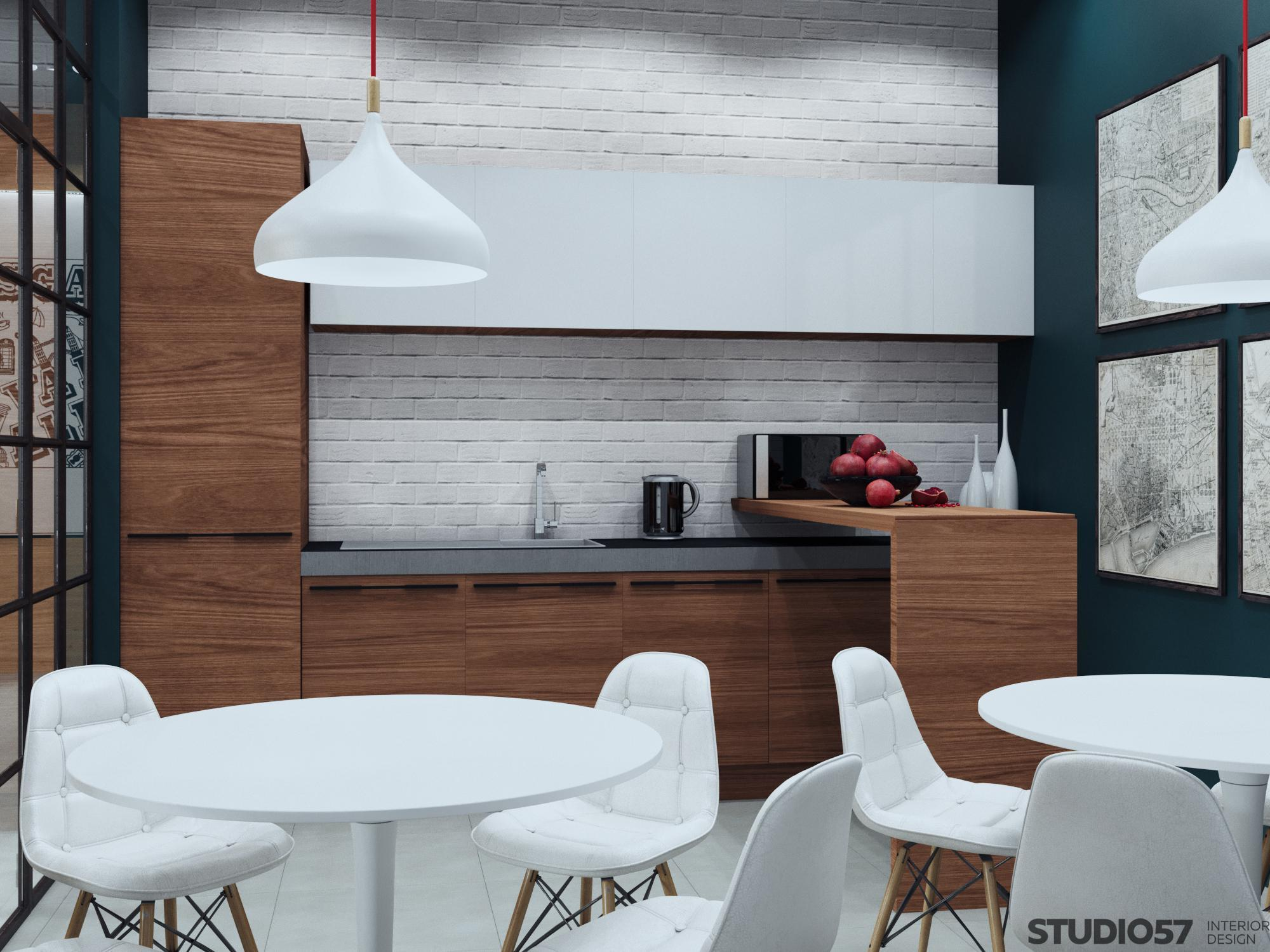 Photo of kitchen design in the office