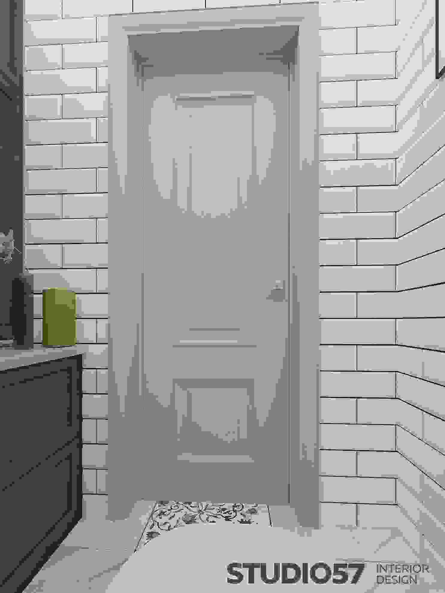 Interior design of the toilet in the style of a contemporary image