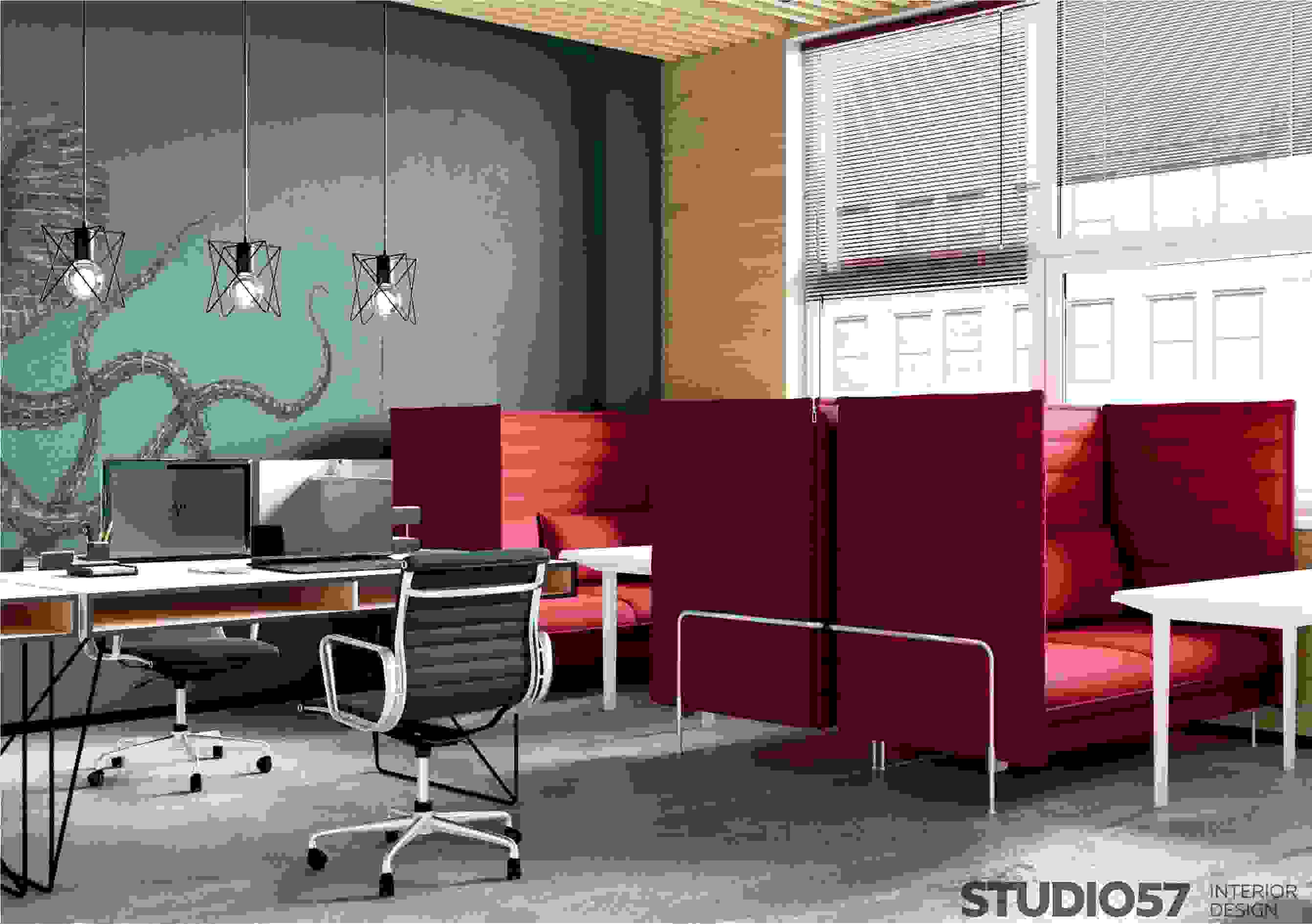 Interior design of a small modern office picture