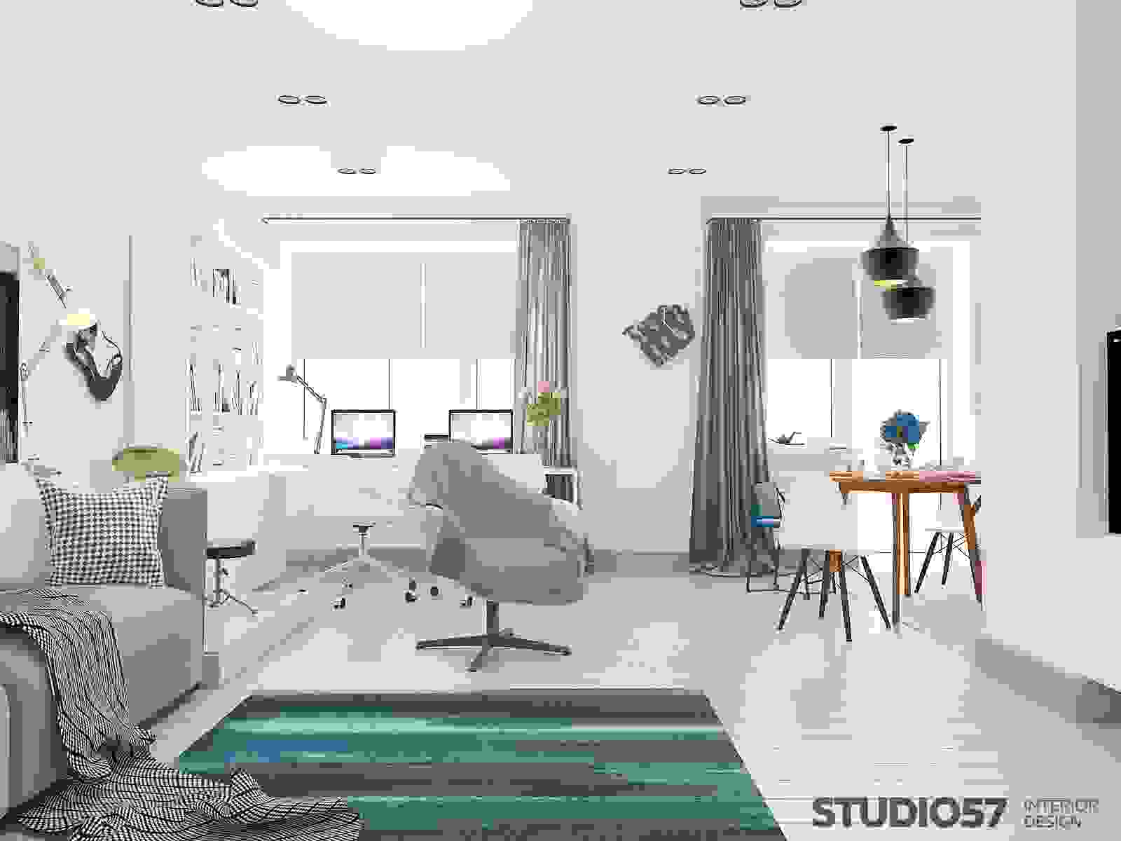 How to make a room in a studio photo