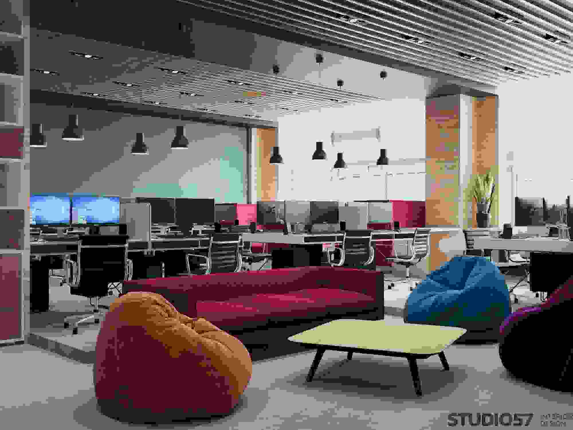 Design of the workplaces in the office photo
