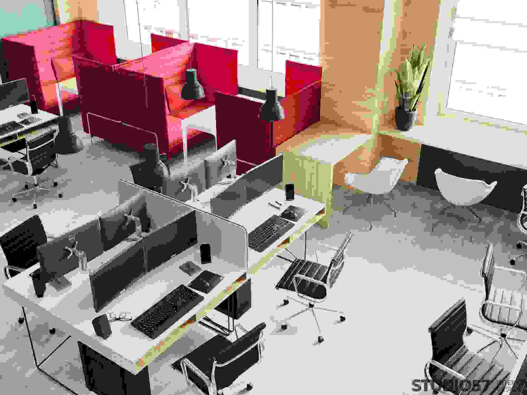 Design of workplaces in the office