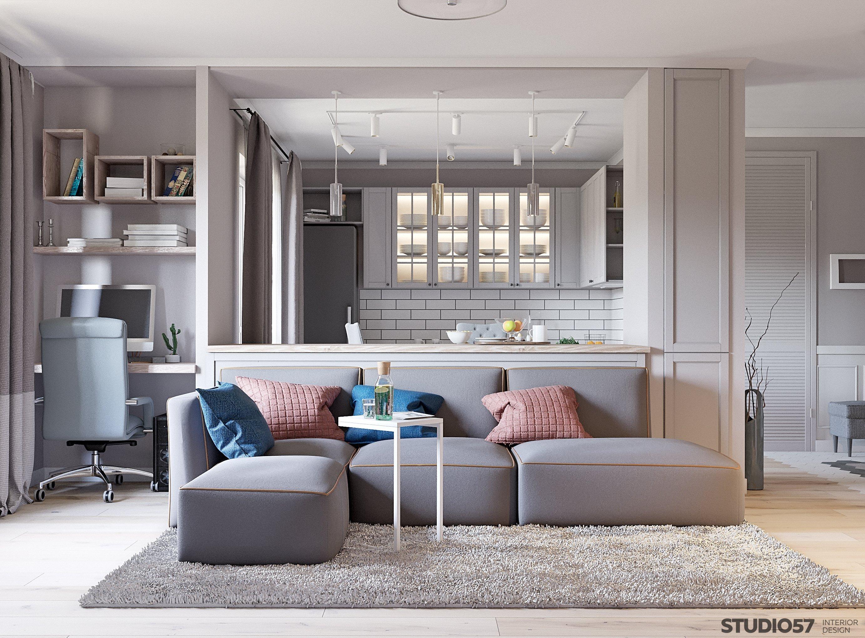 Квартира студия в классическом стиле