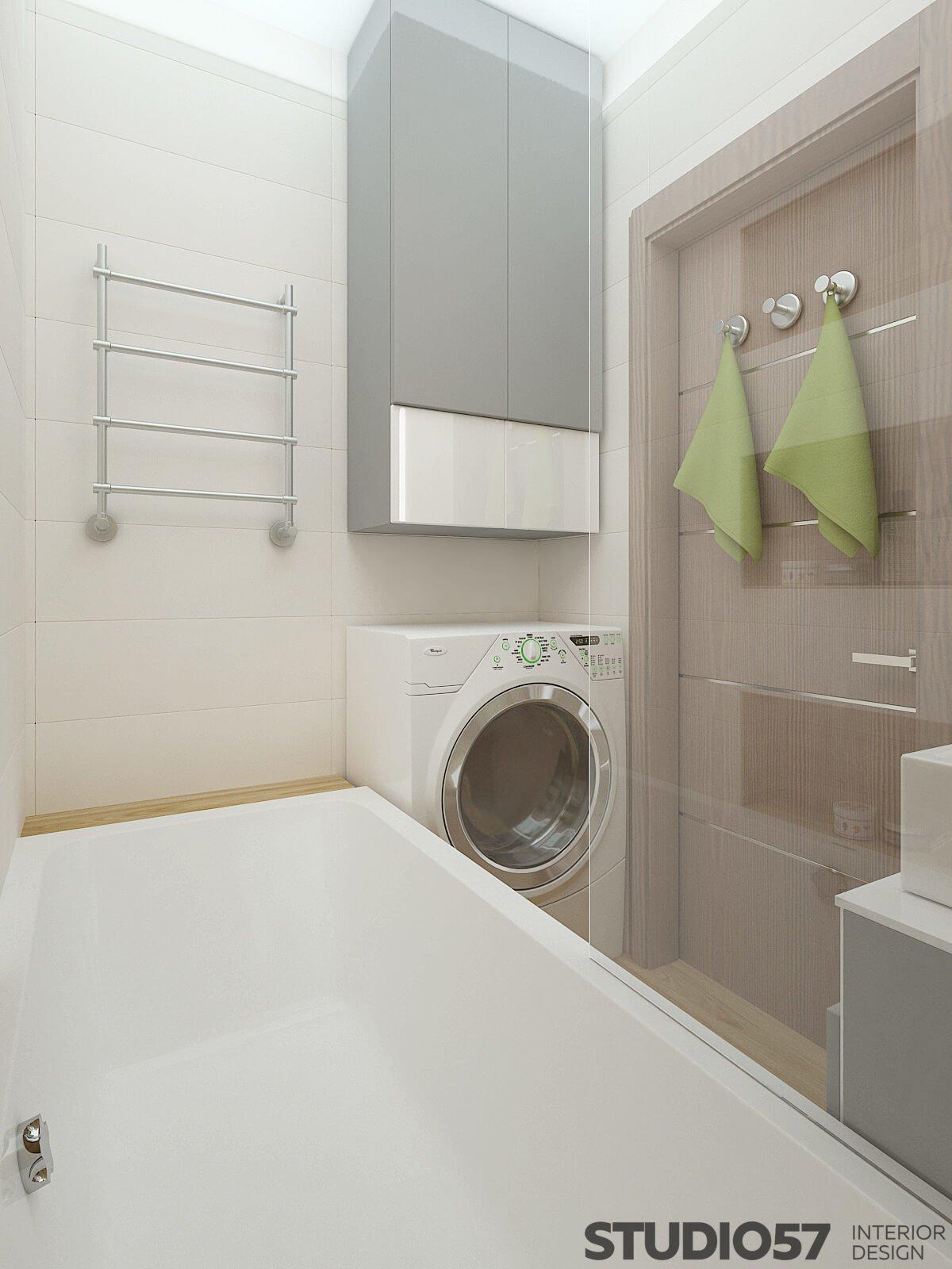 Визуализация светлой ванной комнаты