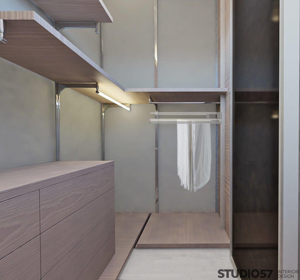 Интерьер гардеробной в квартире