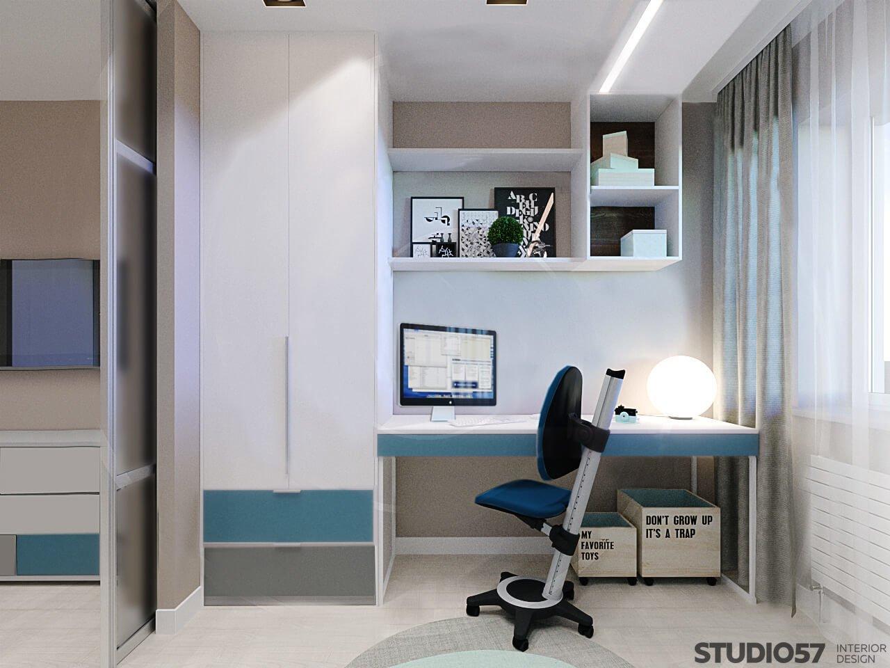 Мебель с голубыми оттенками