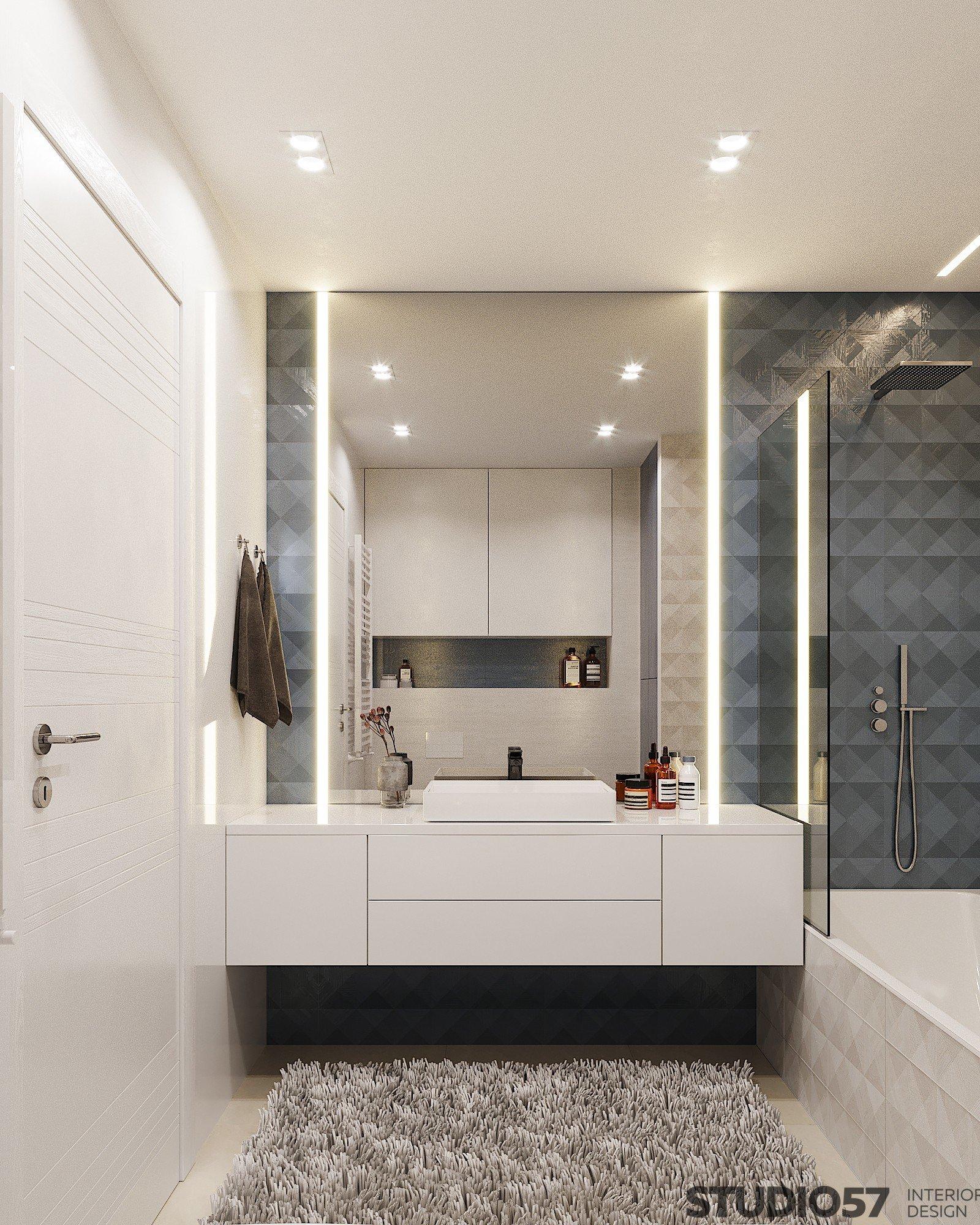 Интерьер раковины в ванной