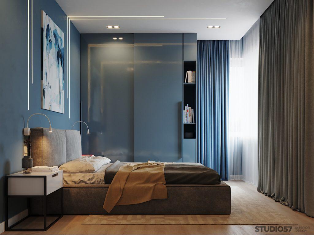 Натяжные потолки в спальне фото