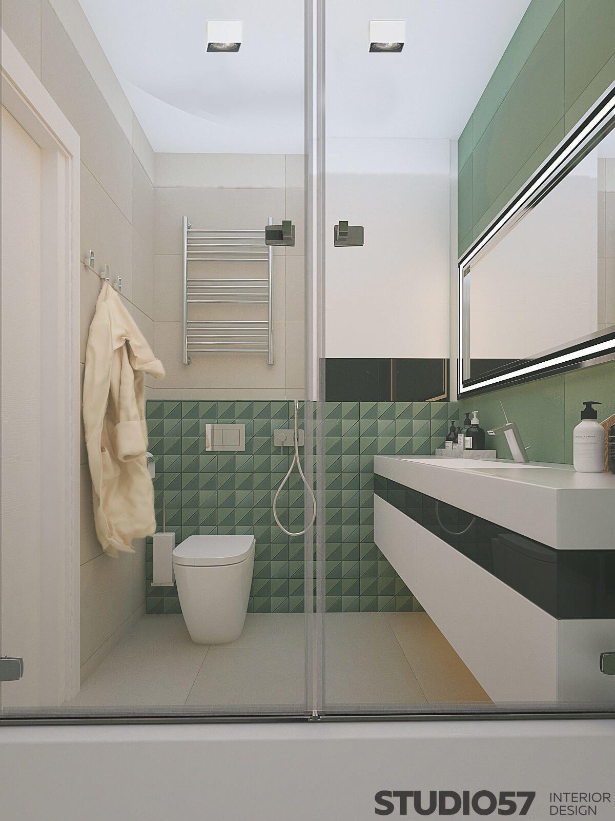 Фото туалета в совмещённом санузле