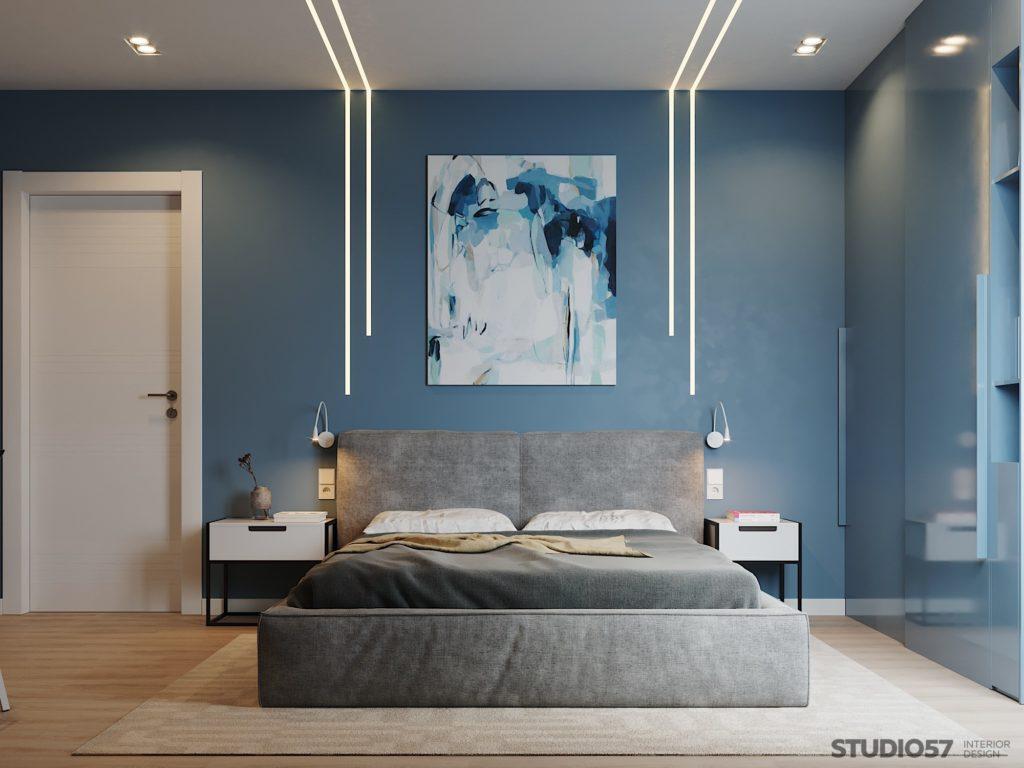Подсветка возле кровати в спальне