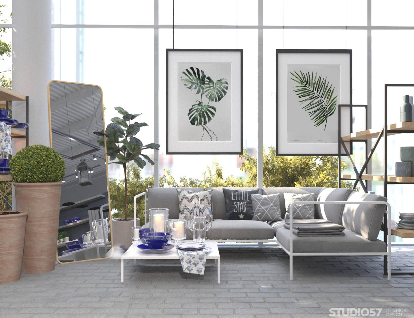 Красивый интерьер магазина для сада