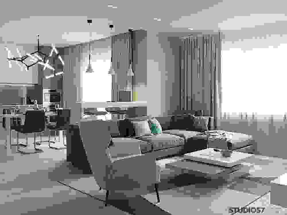 Photos of the interior of a modern living room
