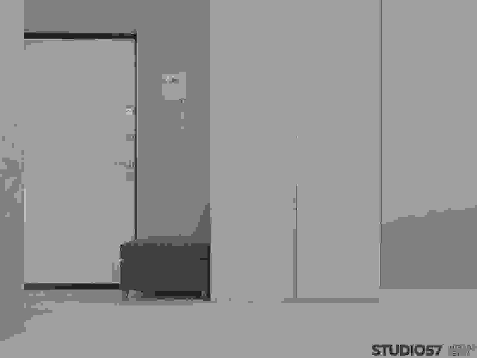 The interior of the hallway in the style of minimalism