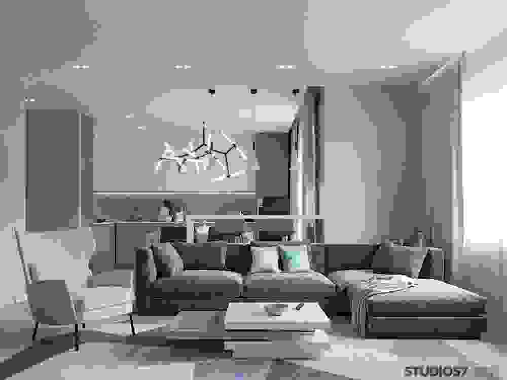 Photo of modern living room design