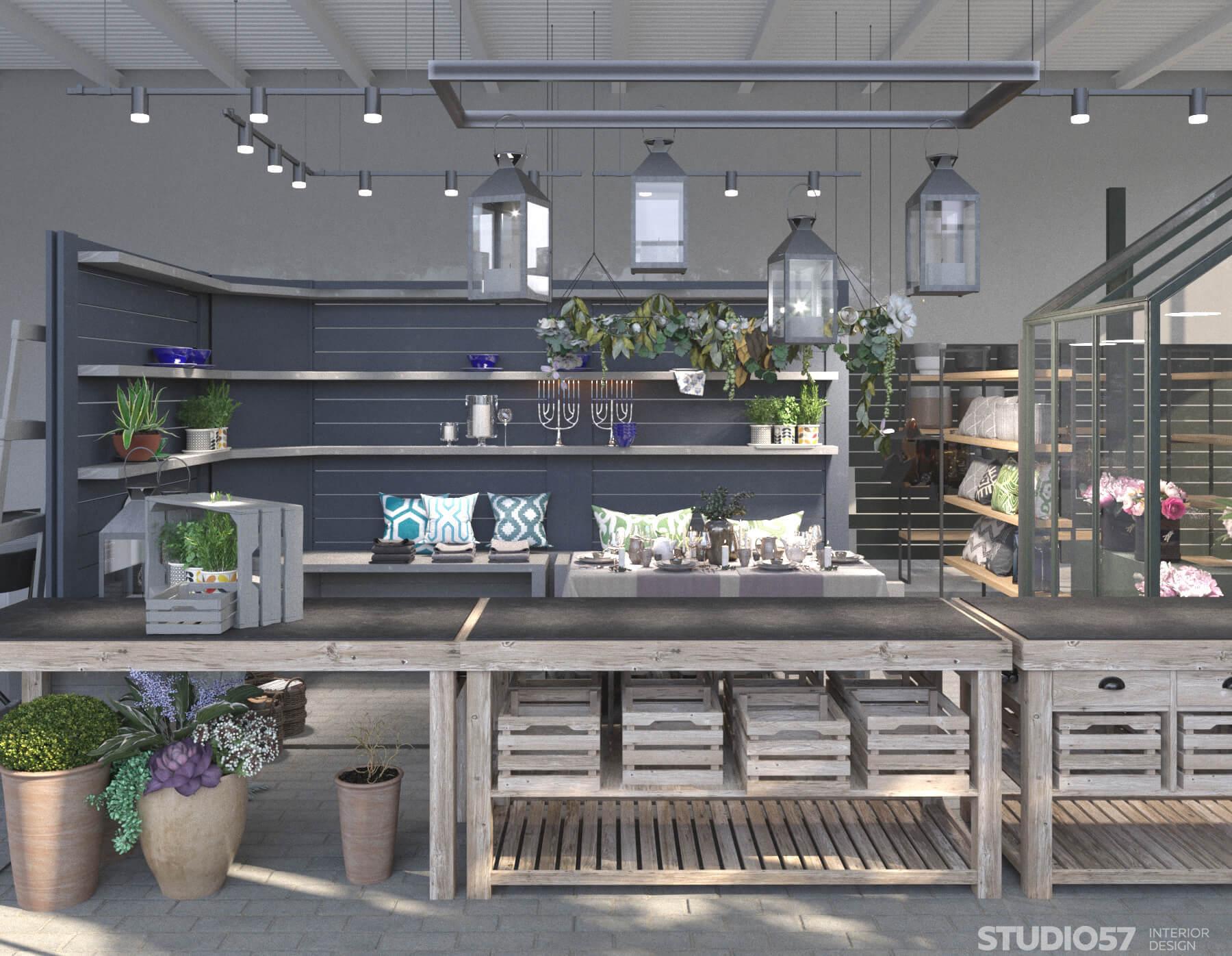 Дизайн магазина для садовых вещей