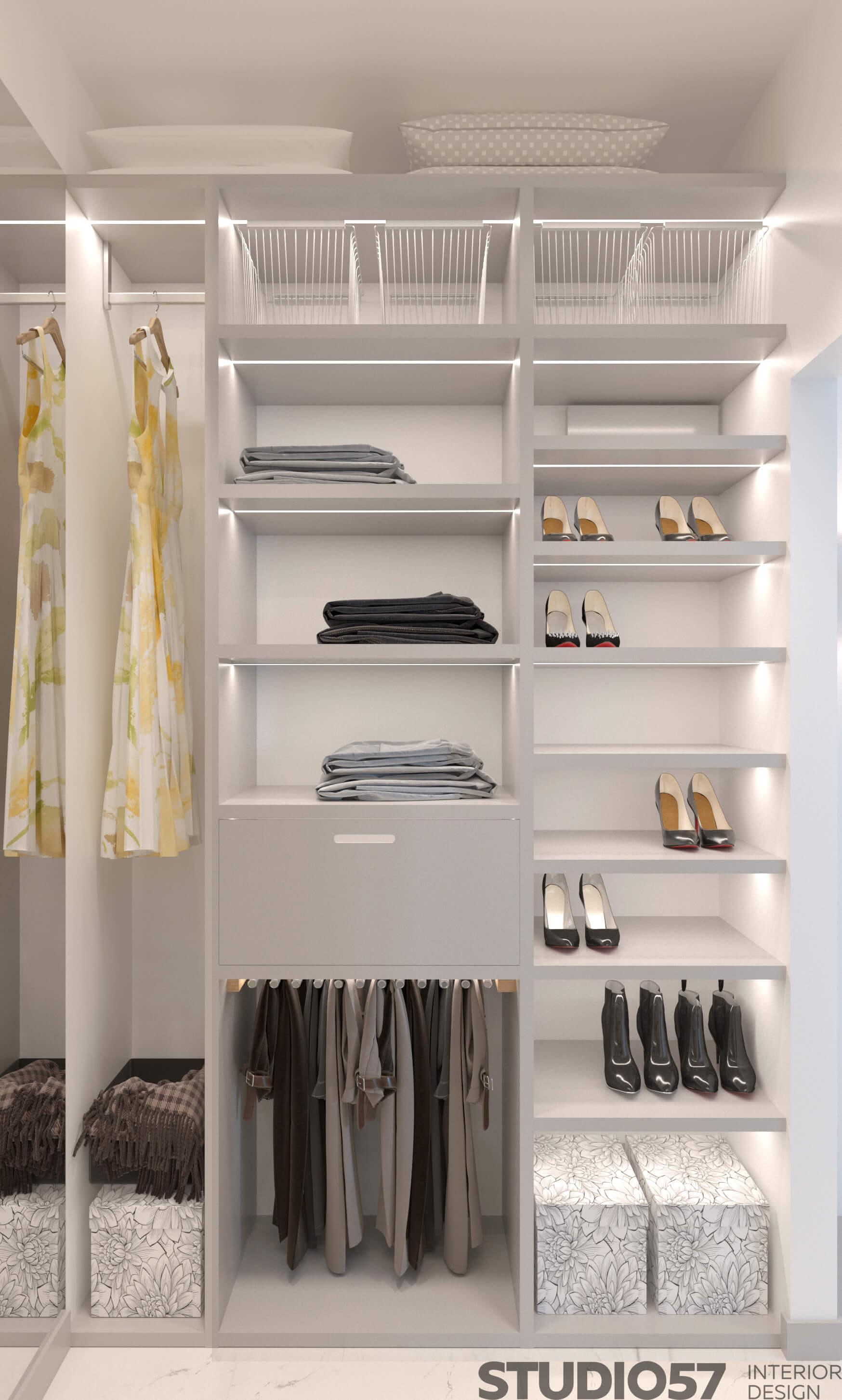 Light wardrobe design