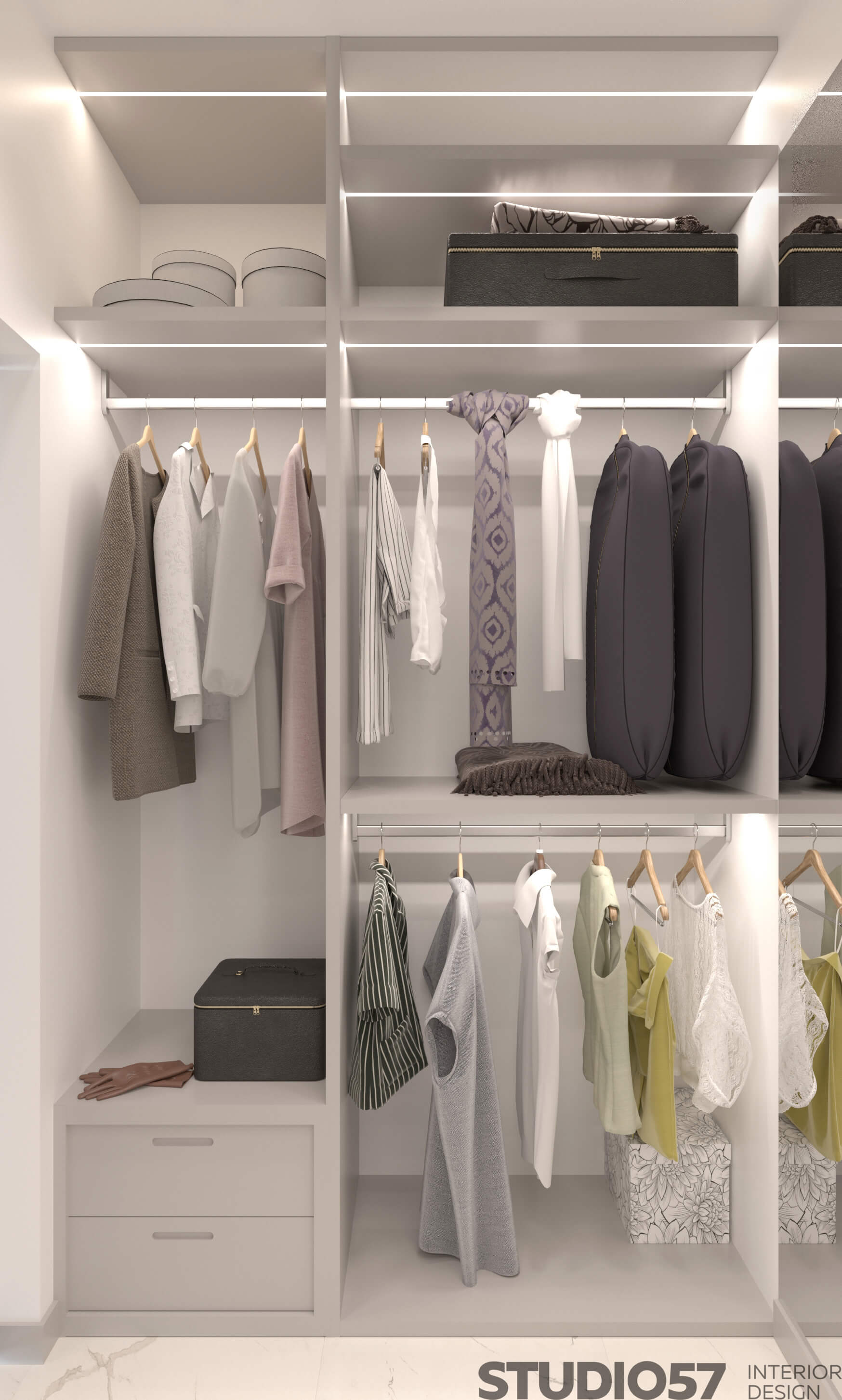 Interior of the wardrobe room 2018 photo
