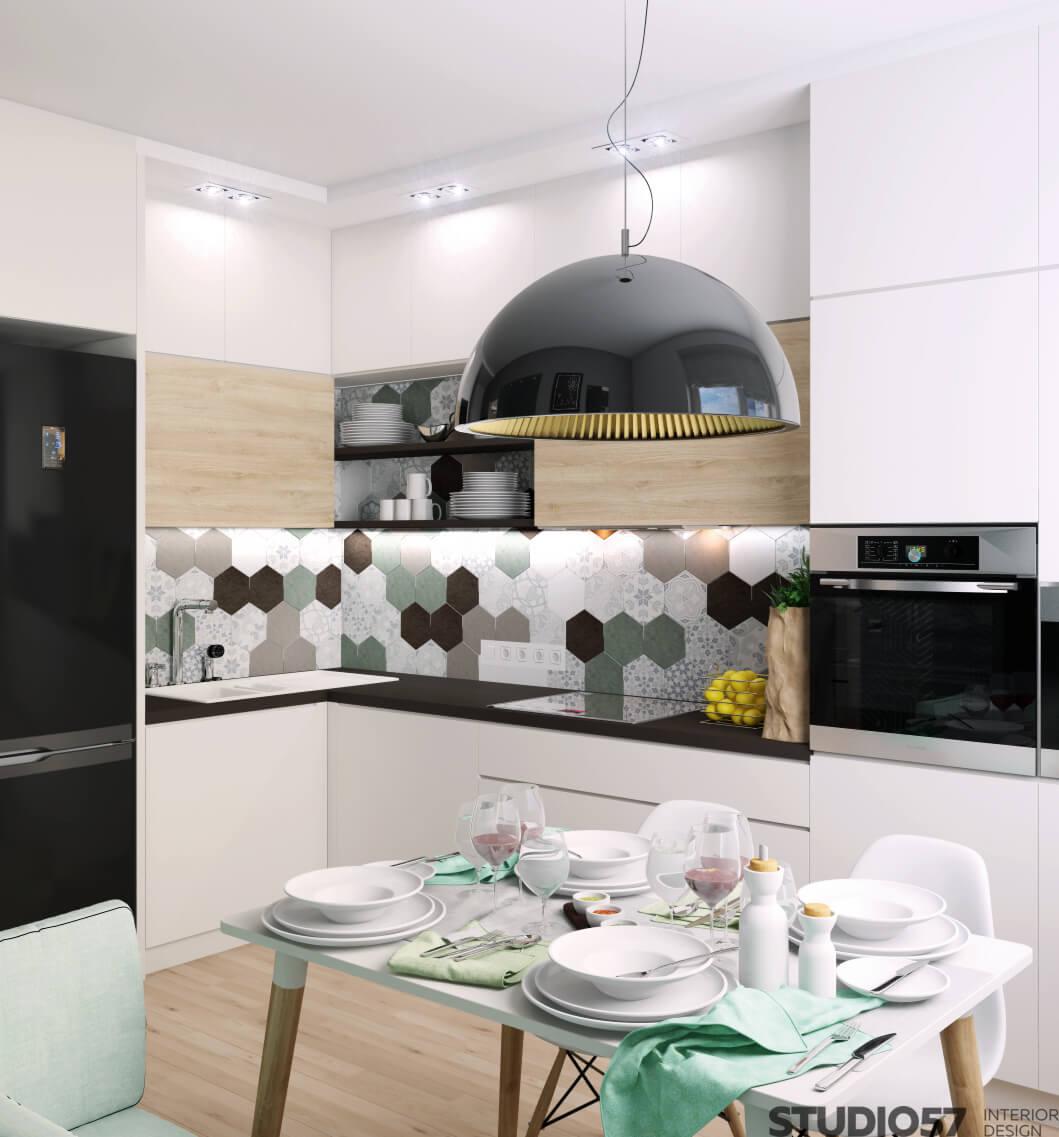 Раздельная кухня с гостиной