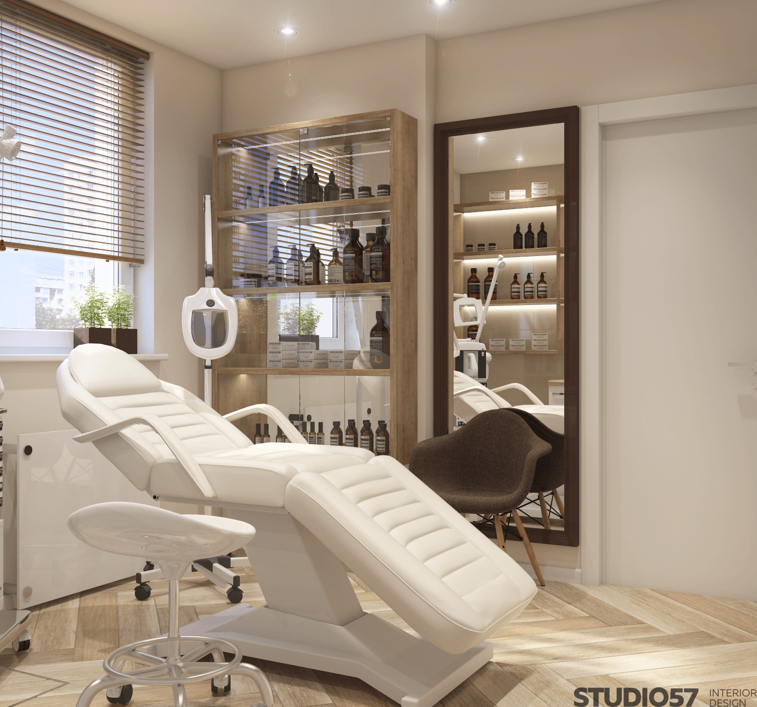 Arrangement of furniture in the beauty salon