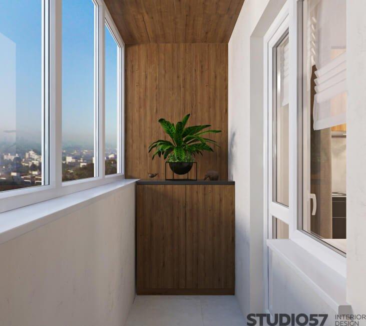 Interior design of a balcony photo