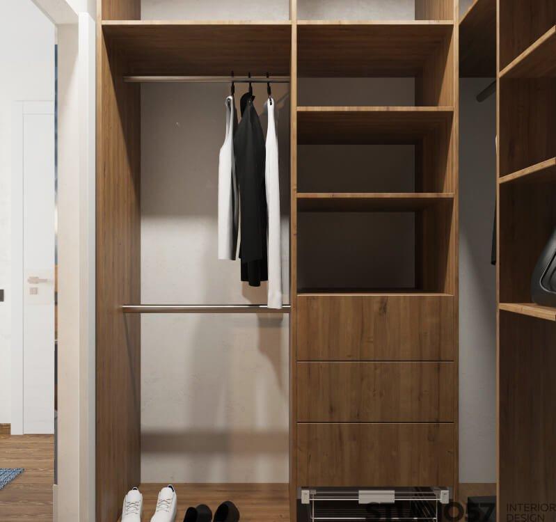Interior wooden wardrobe